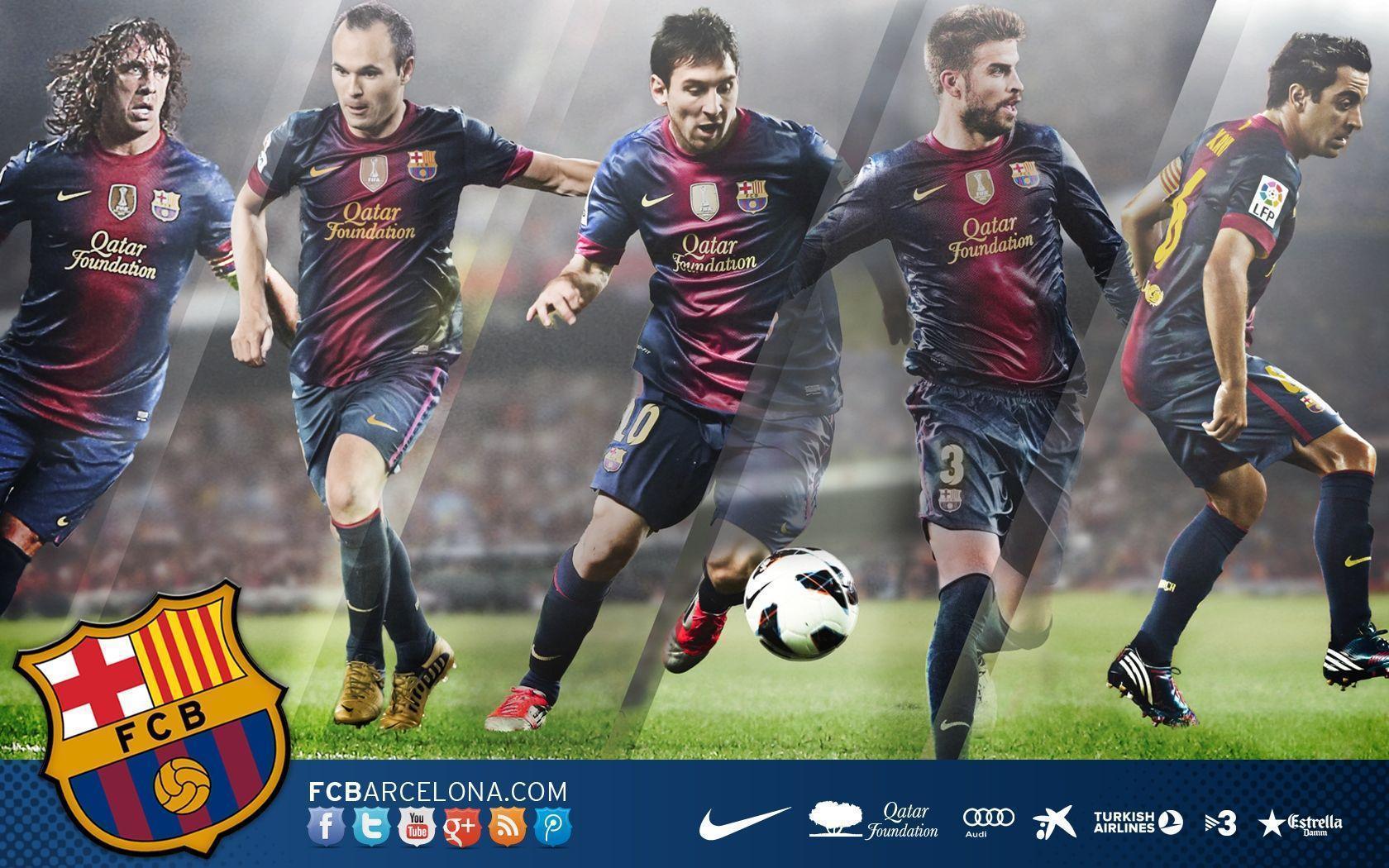 Fondos De Pantalla Del Fútbol Club Barcelona Wallpapers: FC Barcelona Team Wallpapers