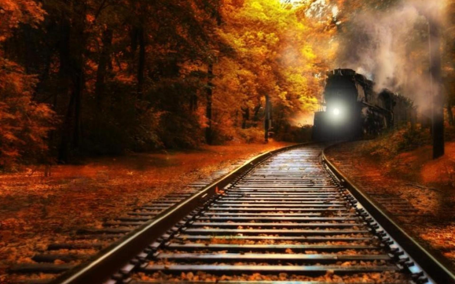 Nature trains railroad tracks railway wallpapers