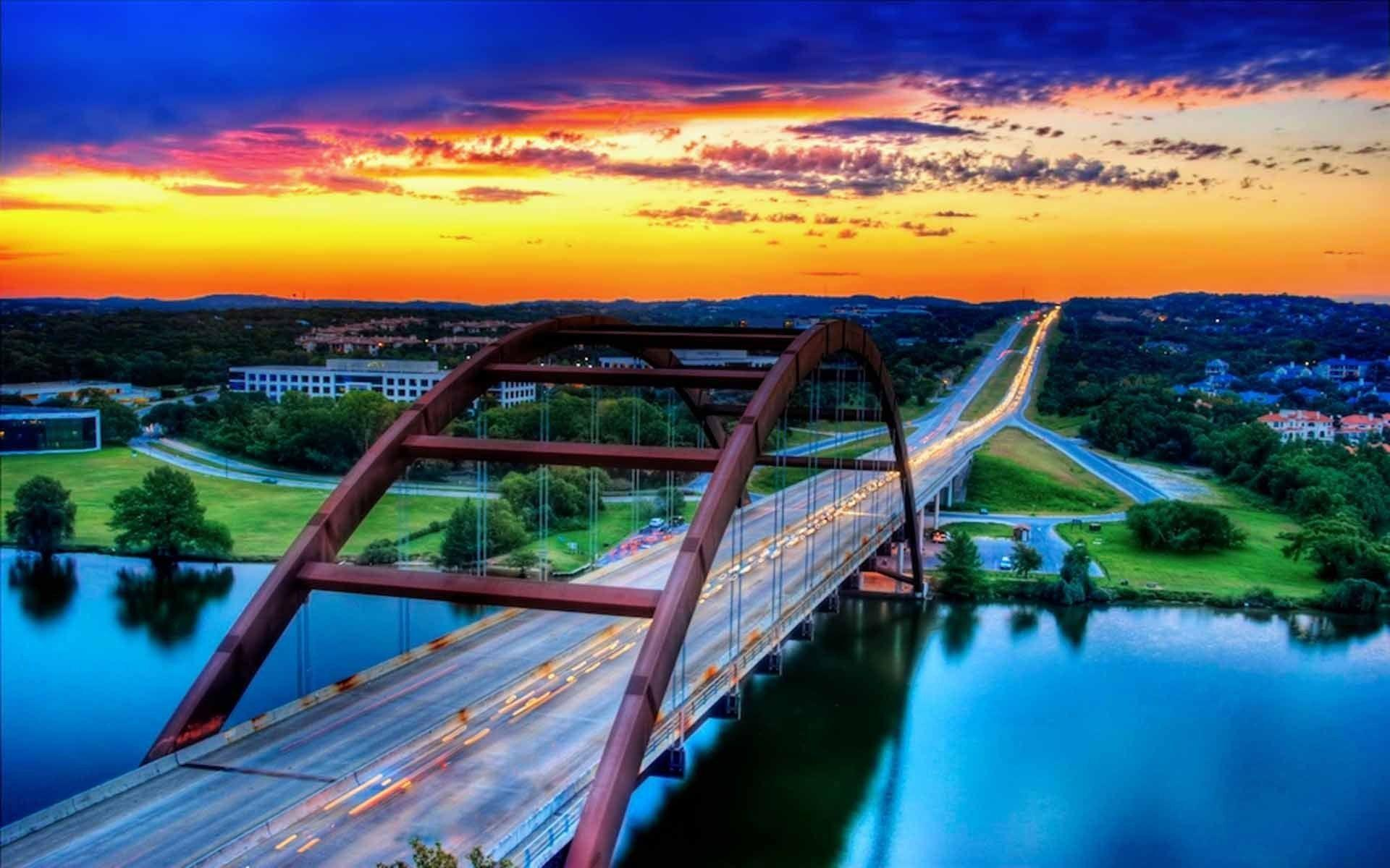 austin bridges cityscapes best widescreen background awesome #aoWa