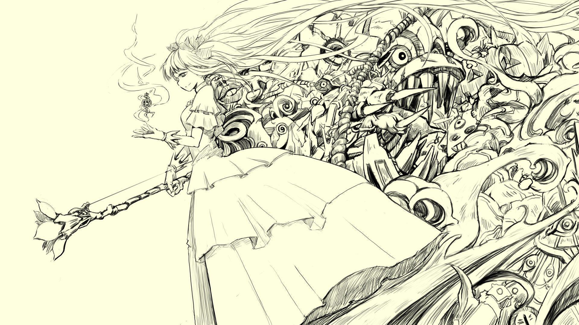 Pencil sketch wallpaper wallpapersafari