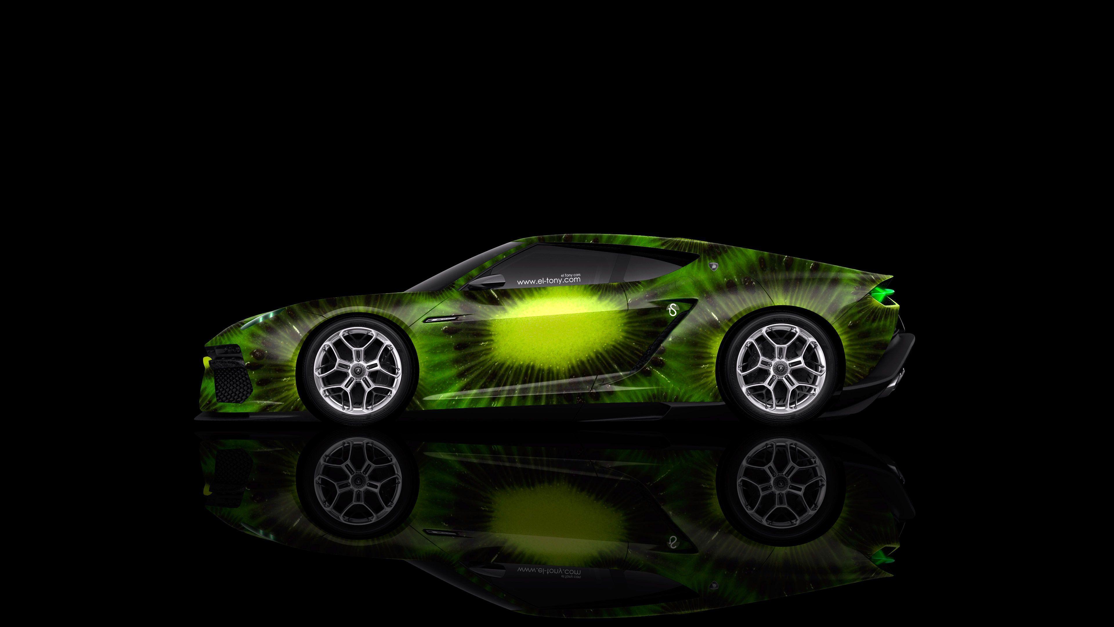 4K Lamborghini Asterion Side Kiwi Aerography Car 2014 | El Tony