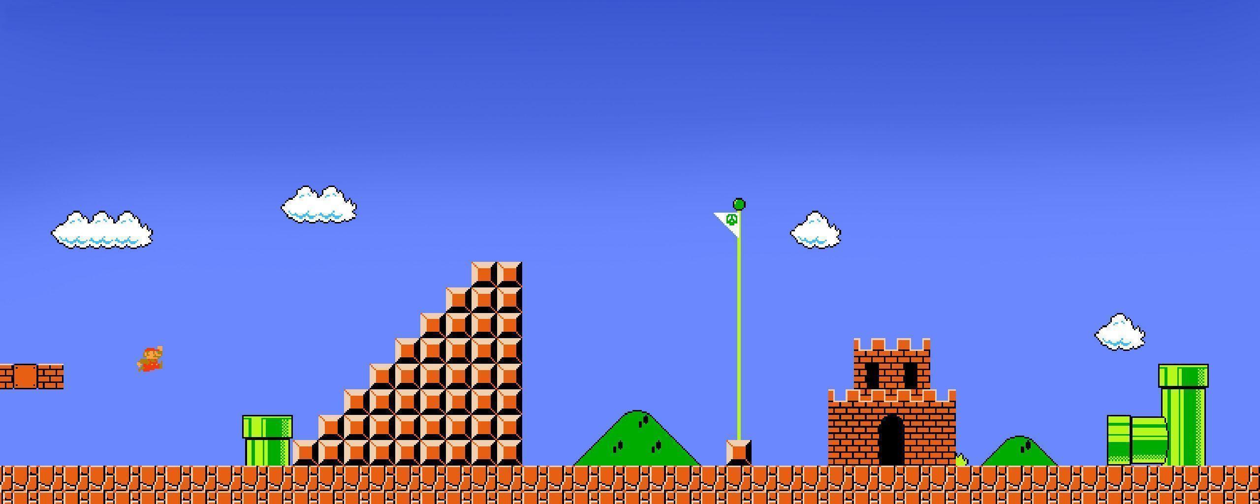 Super Mario Pixel Backgrounds Wallpaper Cave