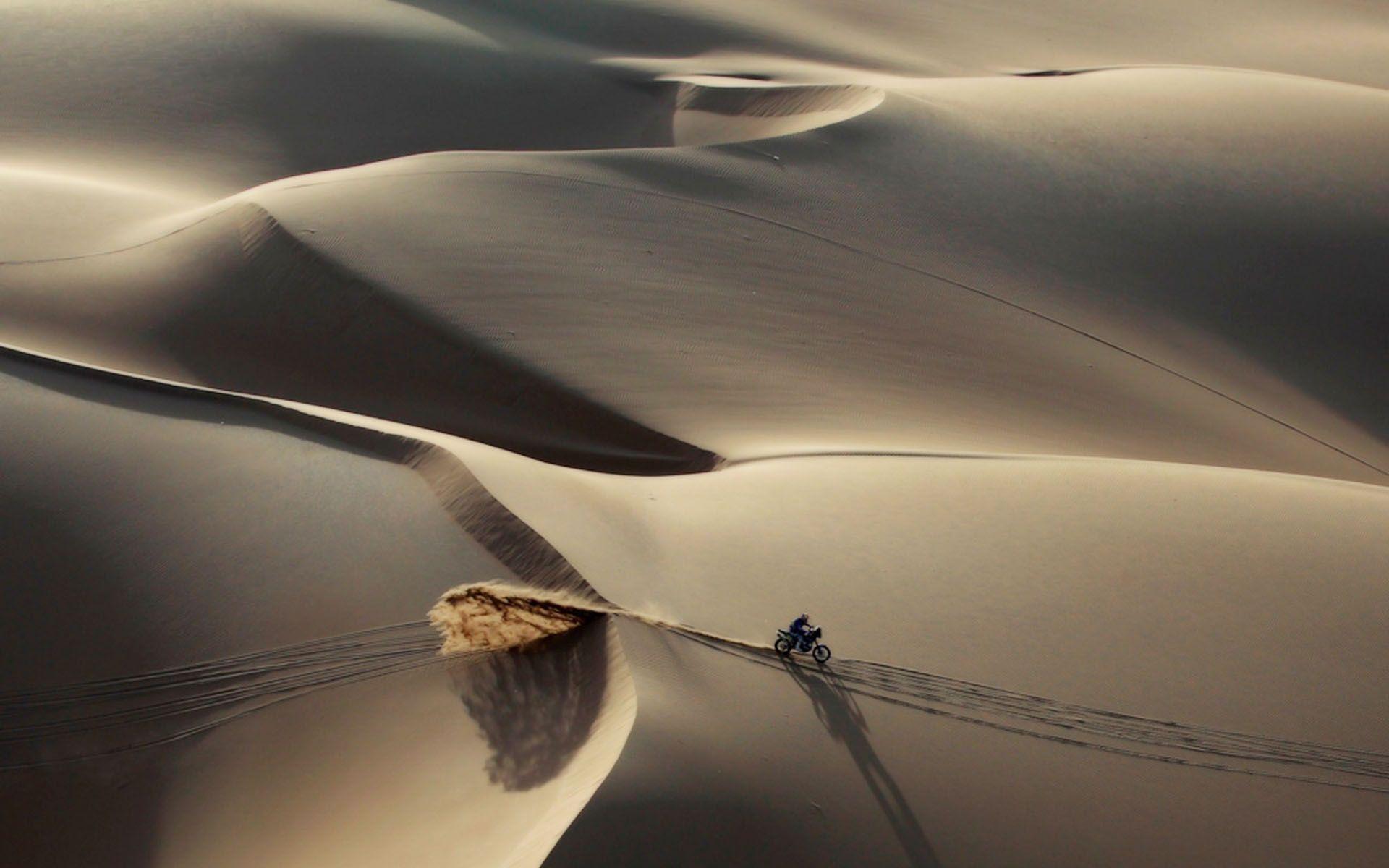 Wallpaper sand, desert, dakar rally, dakar, rally, motorcycle ...