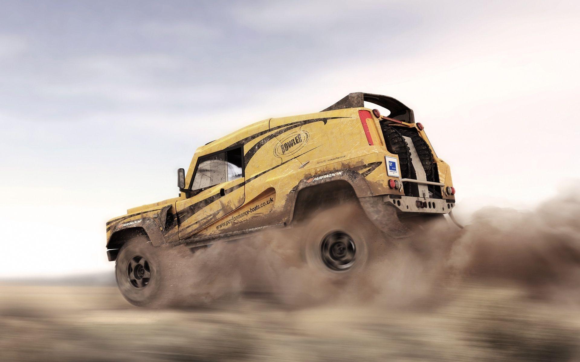 1920x1200 Dakar, In Motion, Suv, Land Rover, Dust, Desert ...