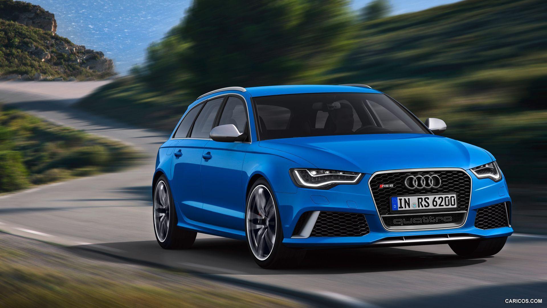 Audi RS6 Blue - wallpaper.