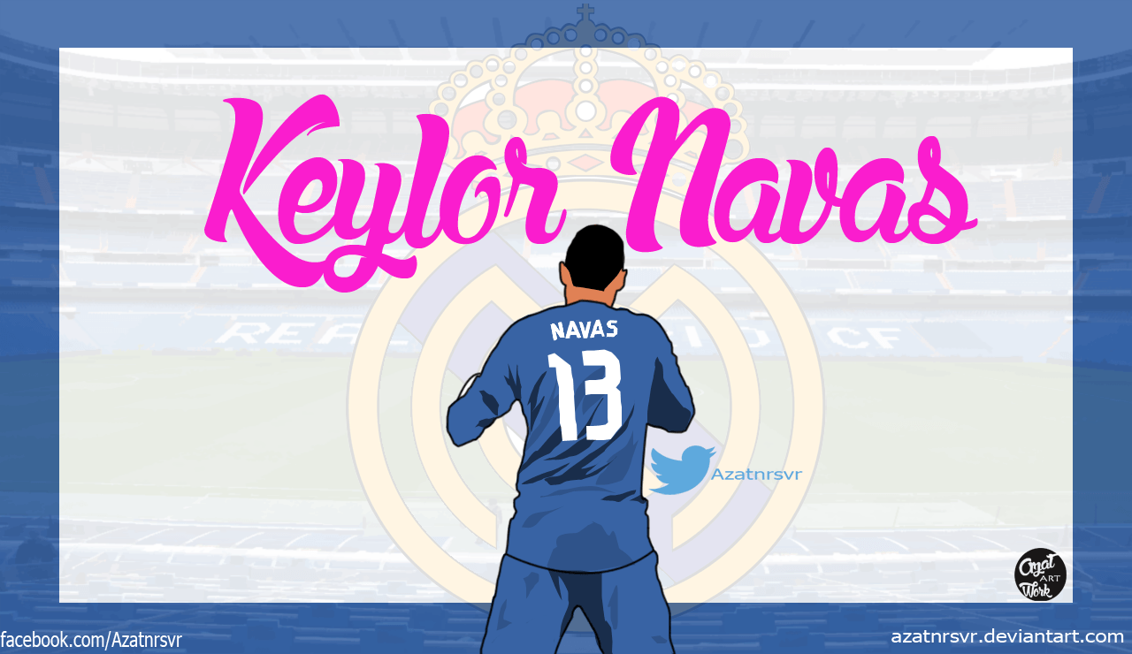 Keylor Navas-Vector Wallpaper by Azatnrsvr on DeviantArt
