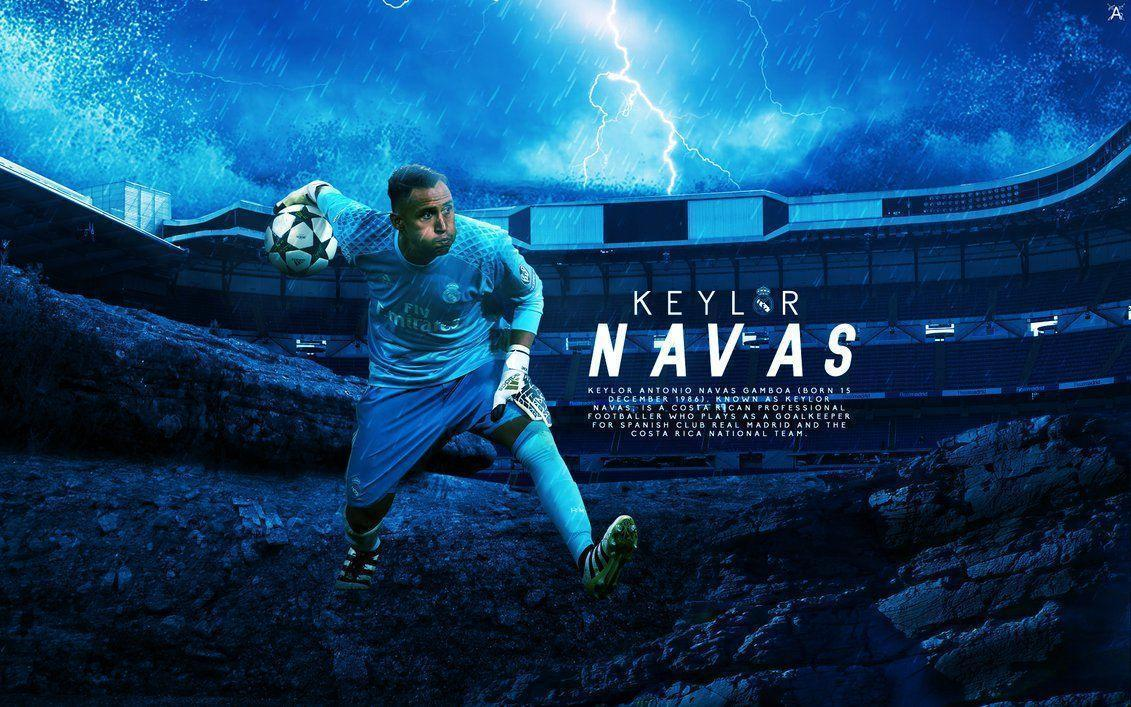 Keylor Navas // Wallpaper 2017 by ArselGFX on DeviantArt