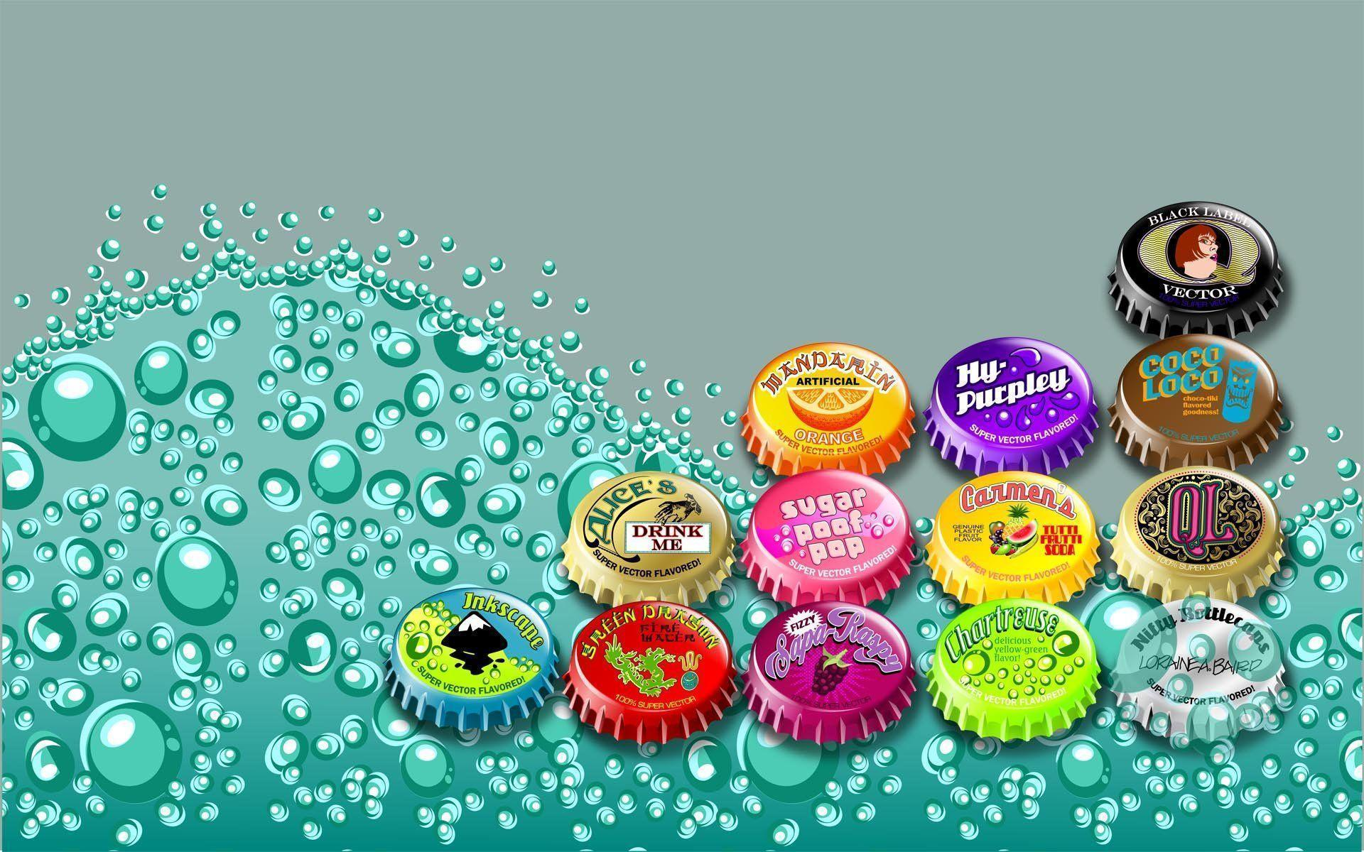 Soda Bubbles Wallpaper