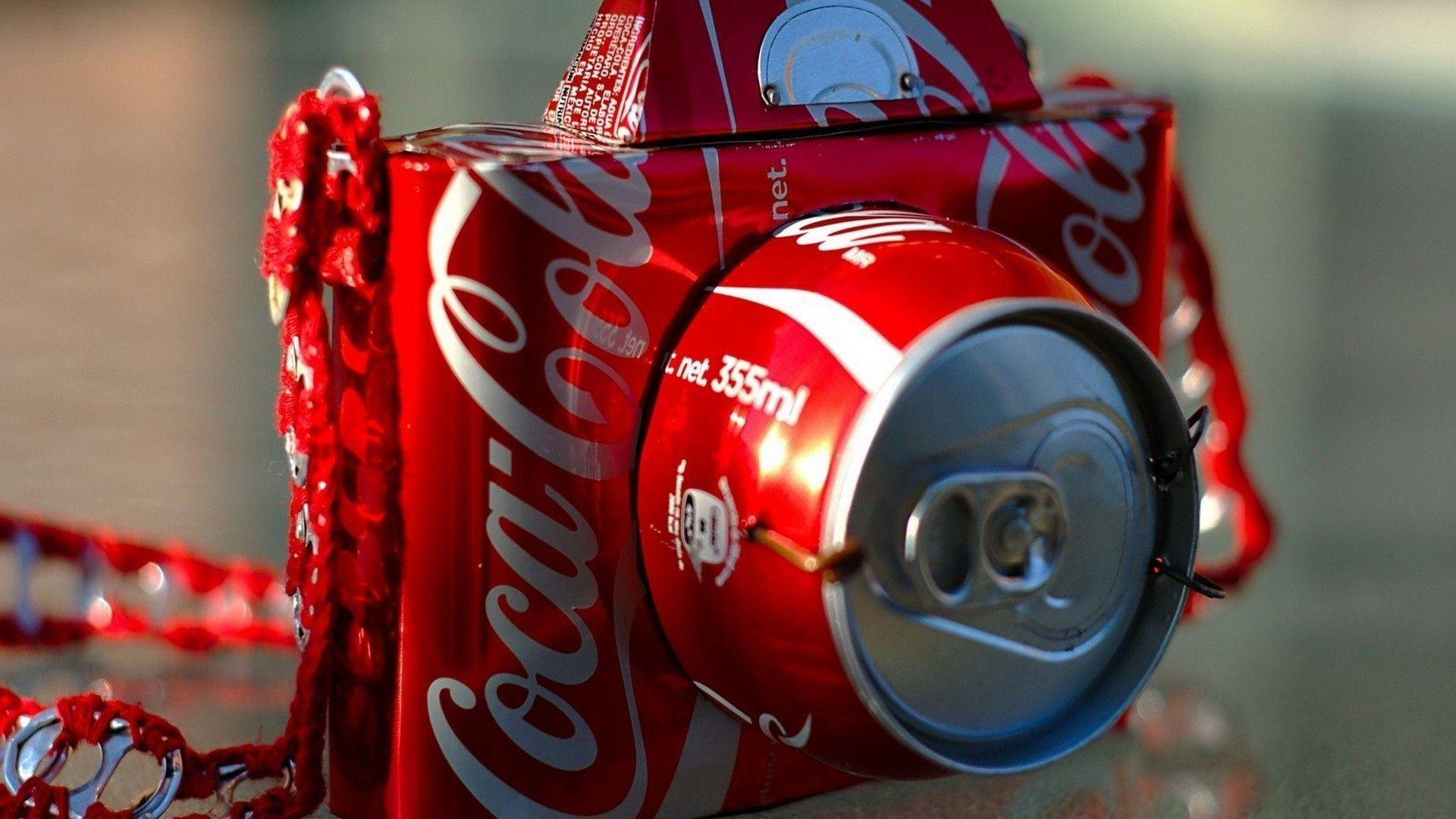 Cocacola artwork cameras soda cans wallpaper | AllWallpaper.in ...