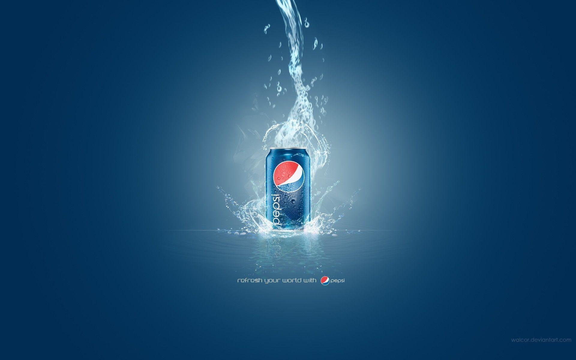 Pepsi Cola Blue Background Wallpaper Download HD