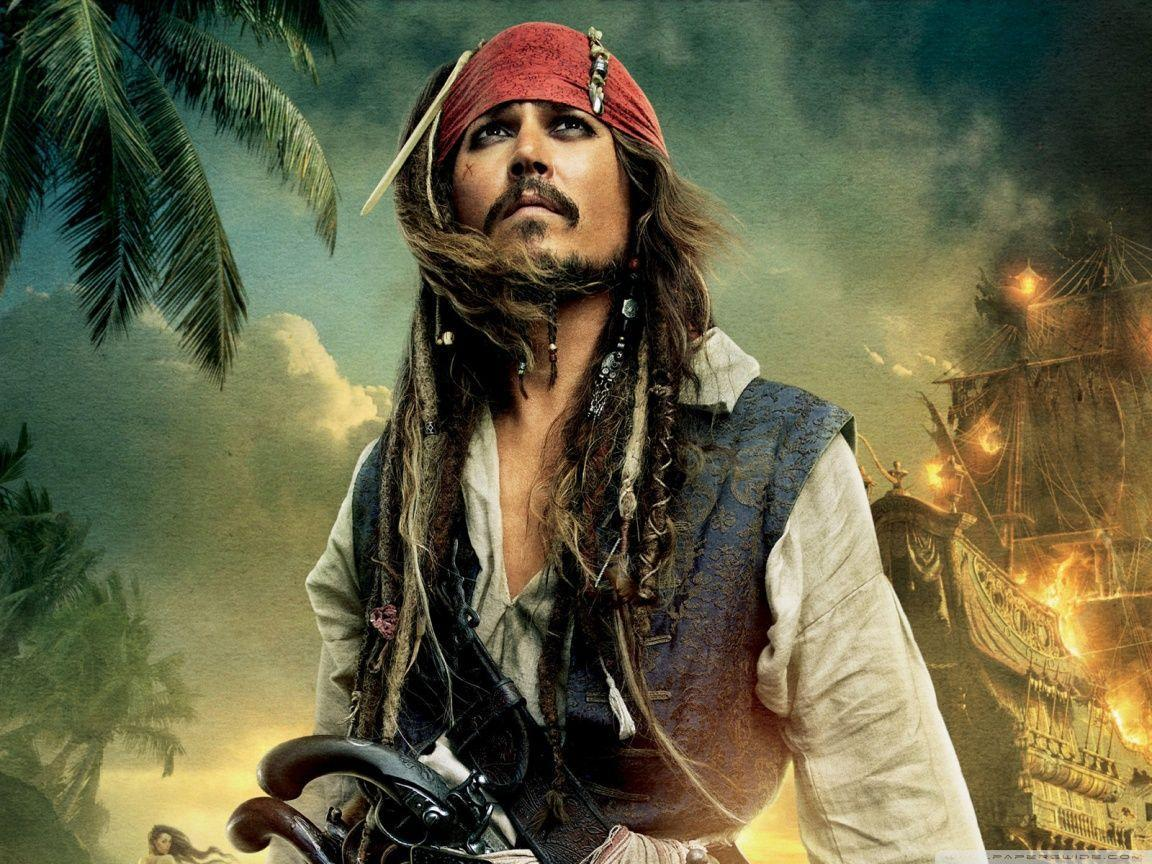 Pirates of the Caribbean Johnny Depp Captain Jack Sparrow HD ...