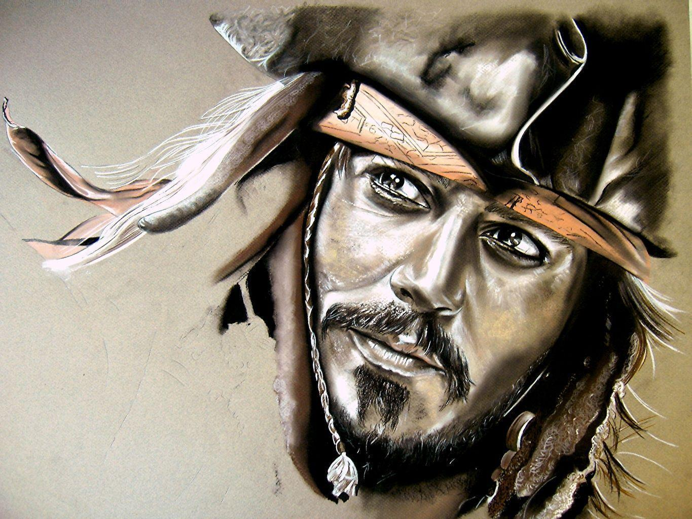 Wallpaper Pirates of the Caribbean Johnny Depp Pirates Moustache
