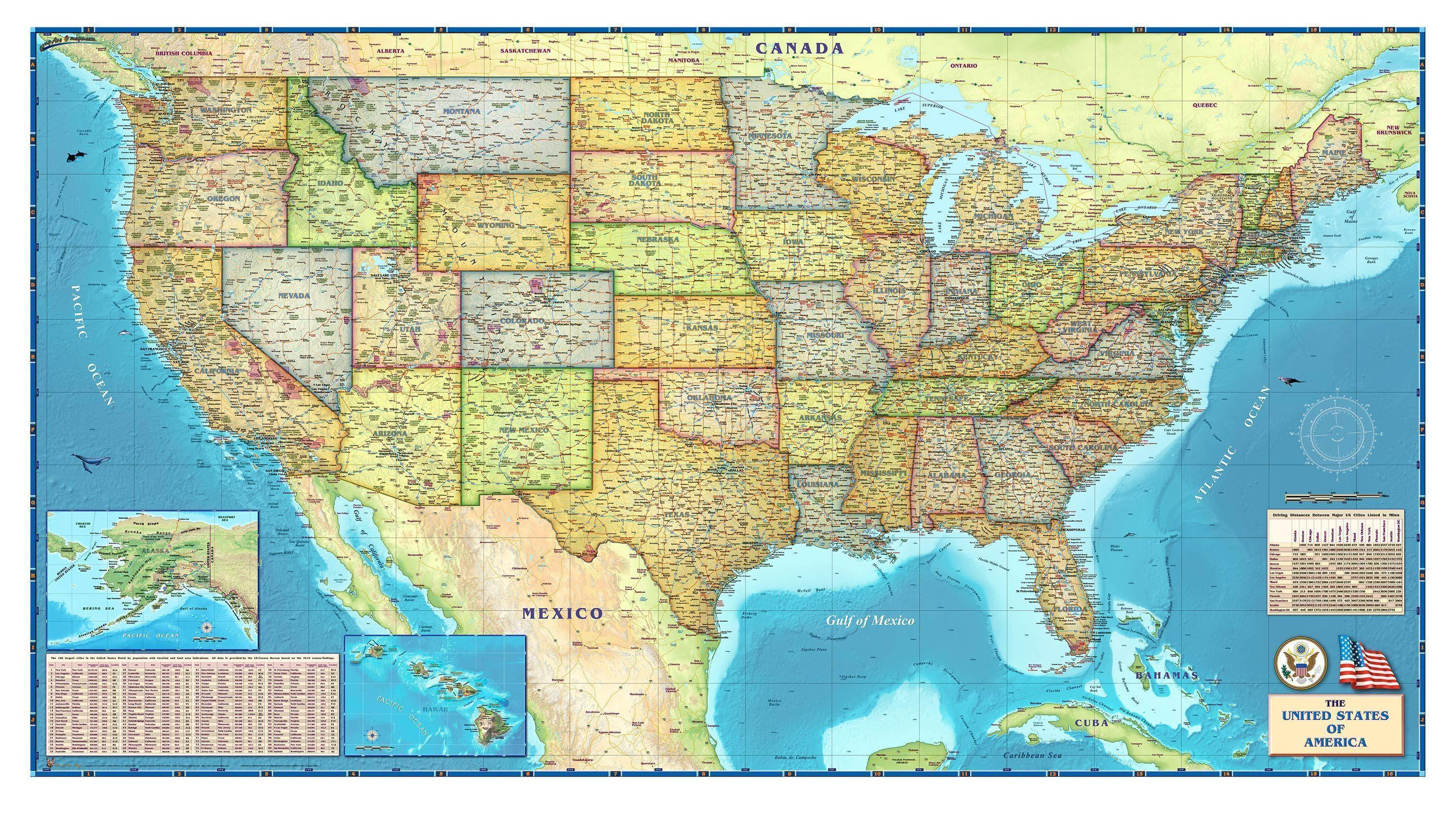 Superb 15 United States Of America Map HD Wallpapers | Backgrounds .
