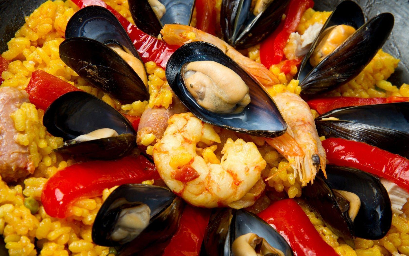 Download Wallpaper 1680x1050 Mussels, Shrimp, Seafood, Pepper ...