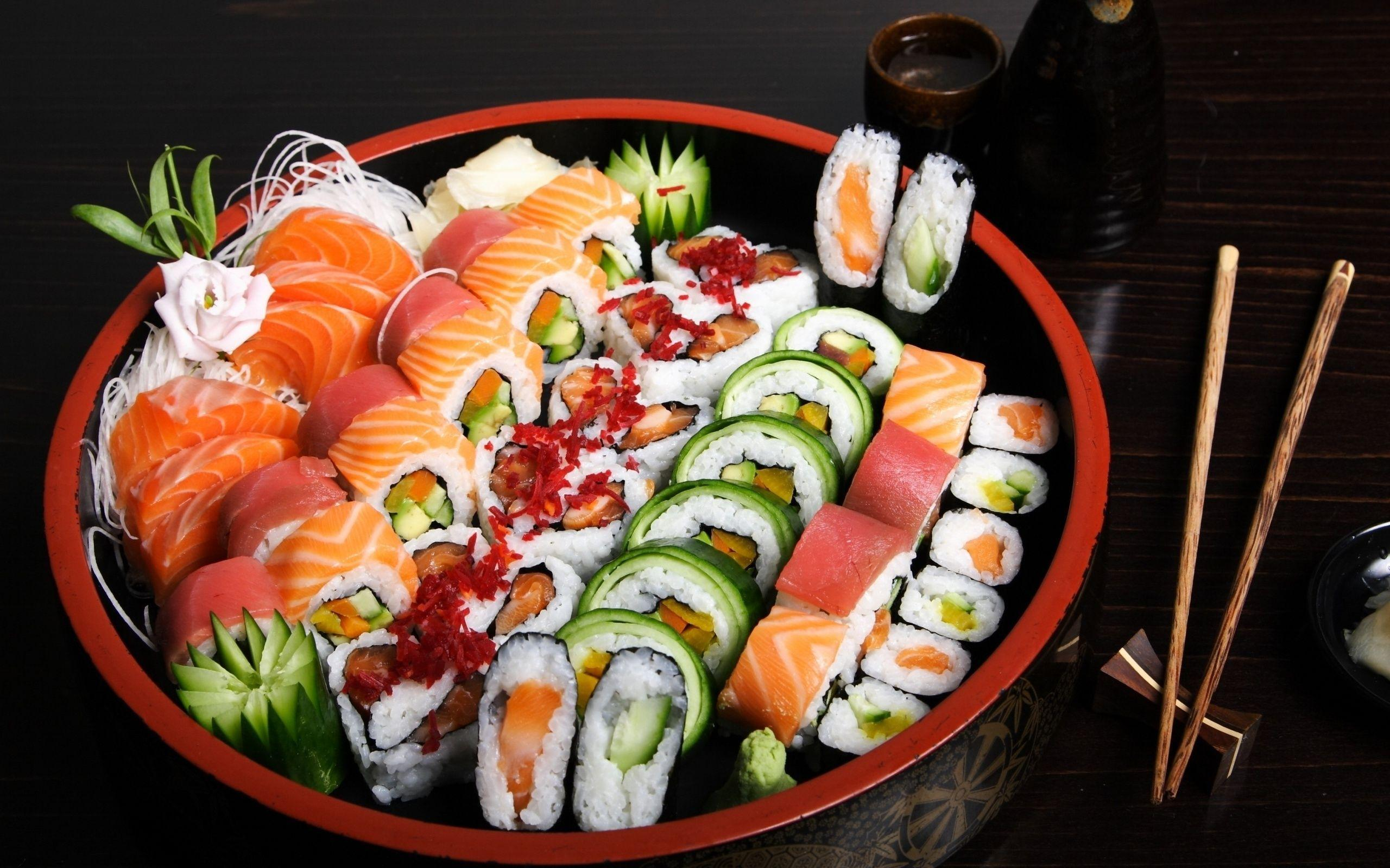 2560x1600 Fish, Seafood, Figure, Sushi, Rolls, Assorted Wallpapers ...