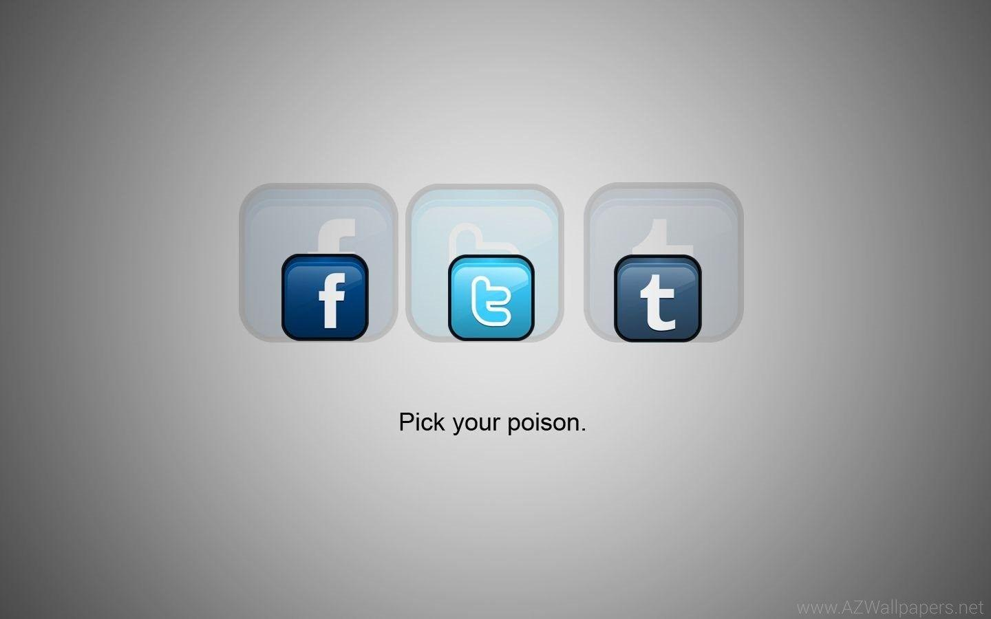 Social Media Pick Your Poison Free Widescreen HD Wallpapers.jpeg