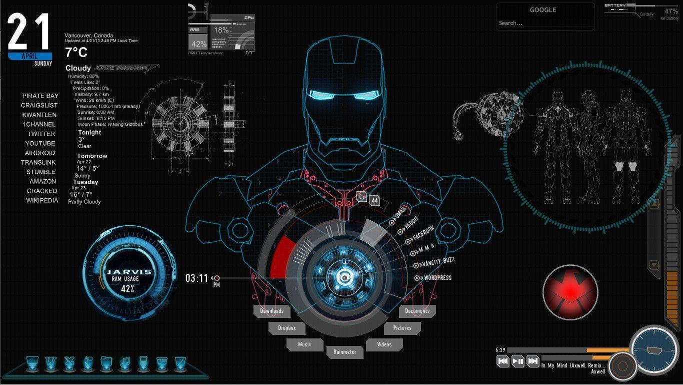 screensaver jarvis iron man - photo #8