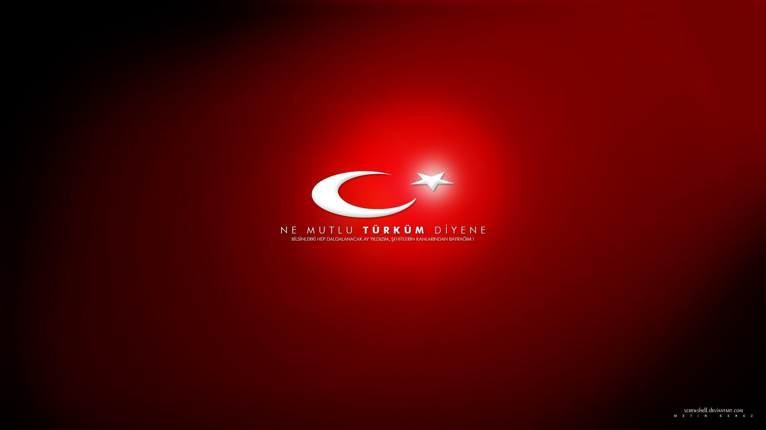 Flags turkey ataturk turkish moon and star wallpapers