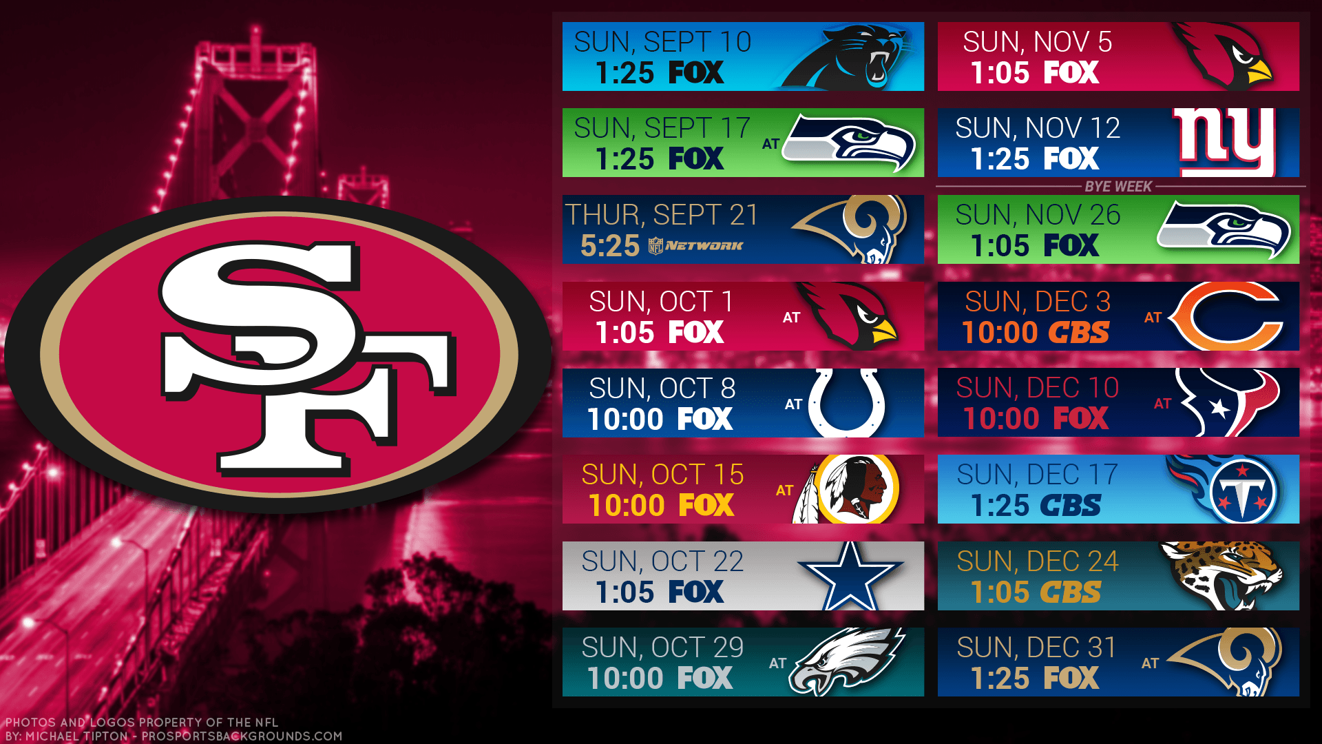 2017 San Francisco 49ers Wallpapers - PC |iPhone| Android