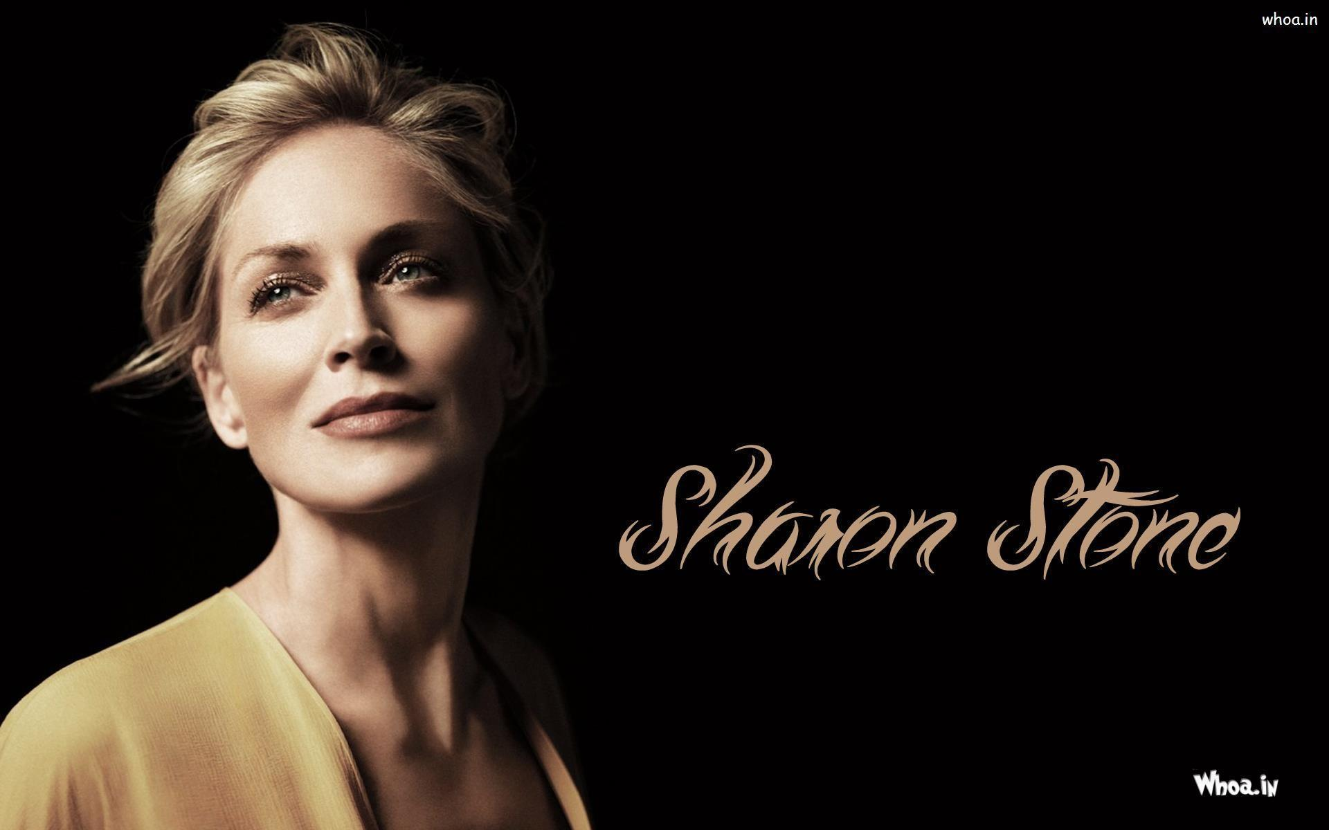 Sharon Stone Face Close Up Wallpapers HD