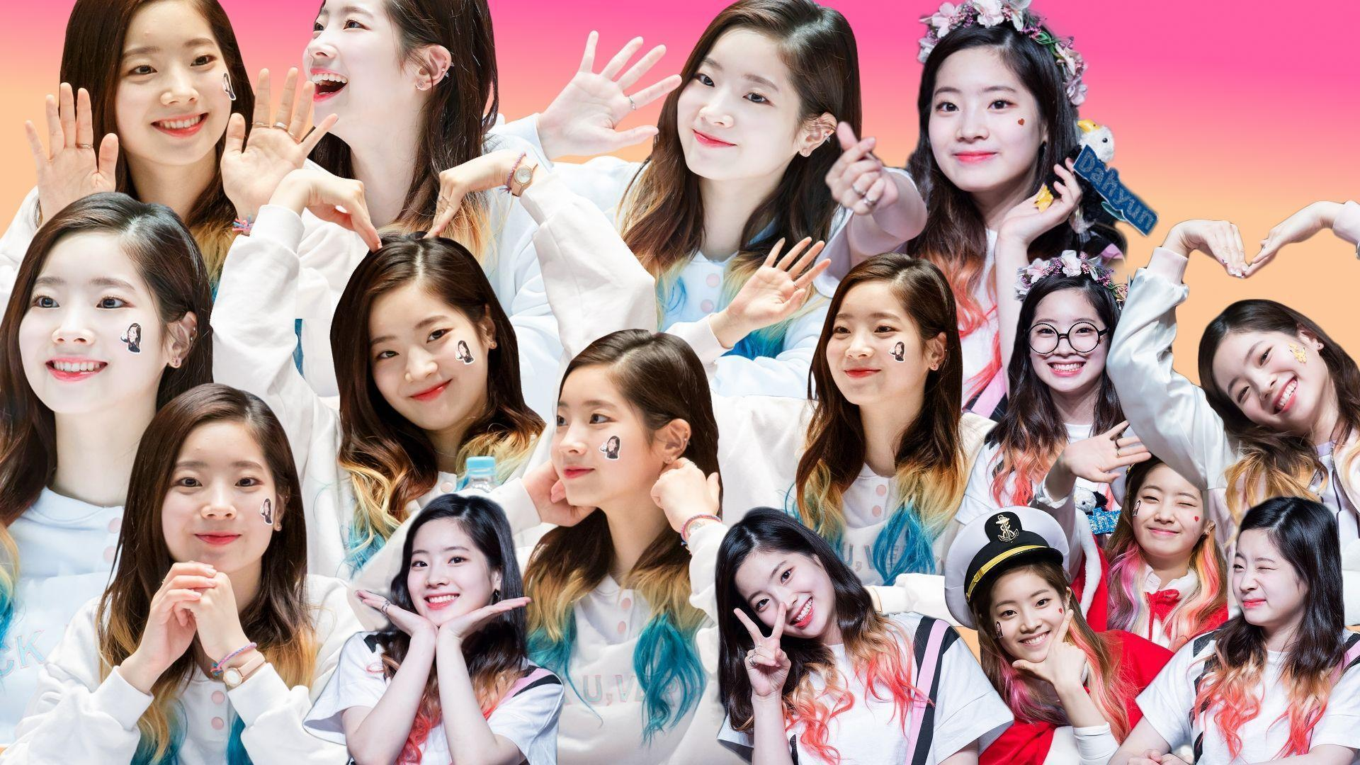 Sana, Tzuyu, and Dahyun collage wallpapers