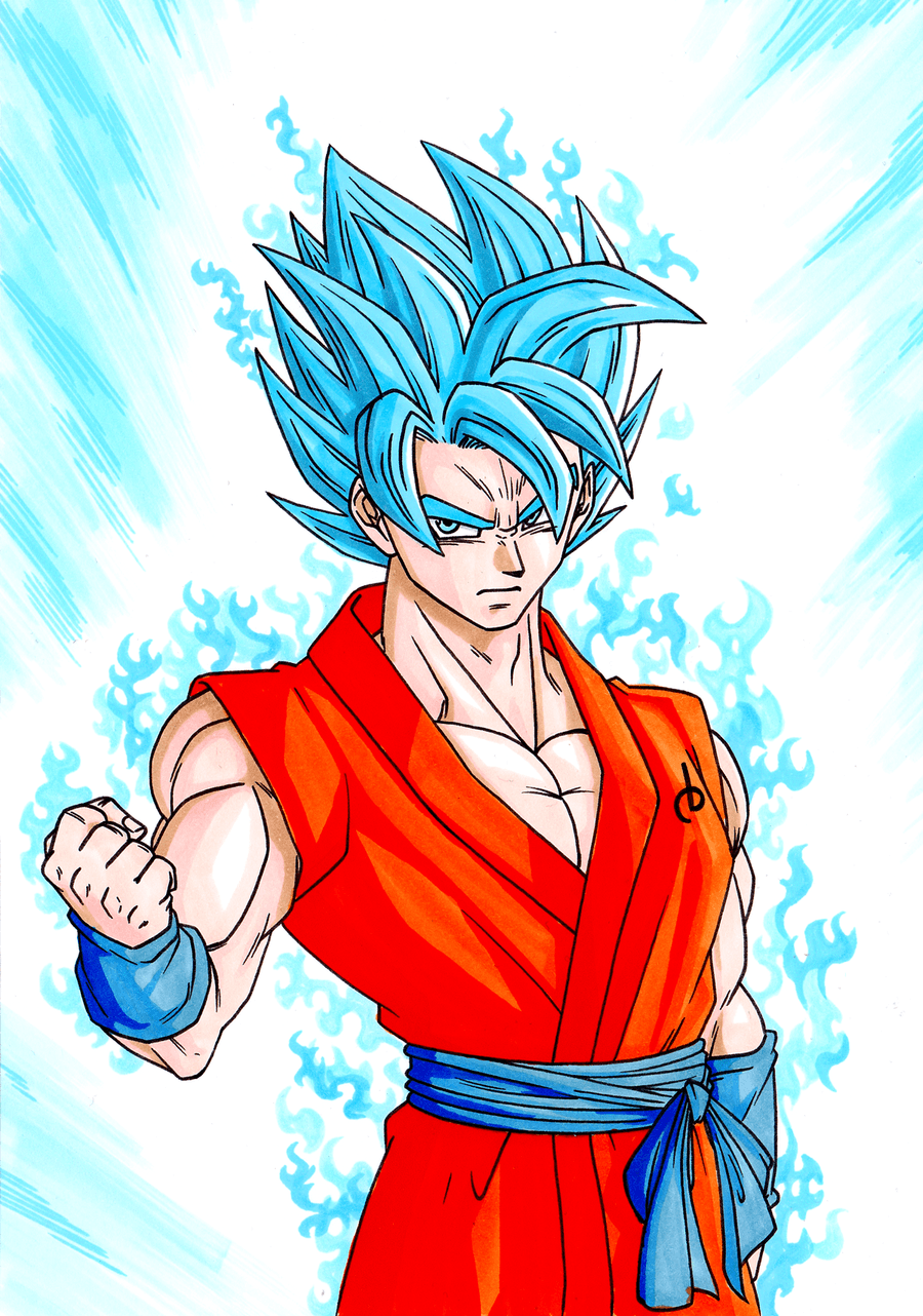 Son Goku (Super Saiyan God) by TomislavArtz on DeviantArt |Goku Super Sayian God