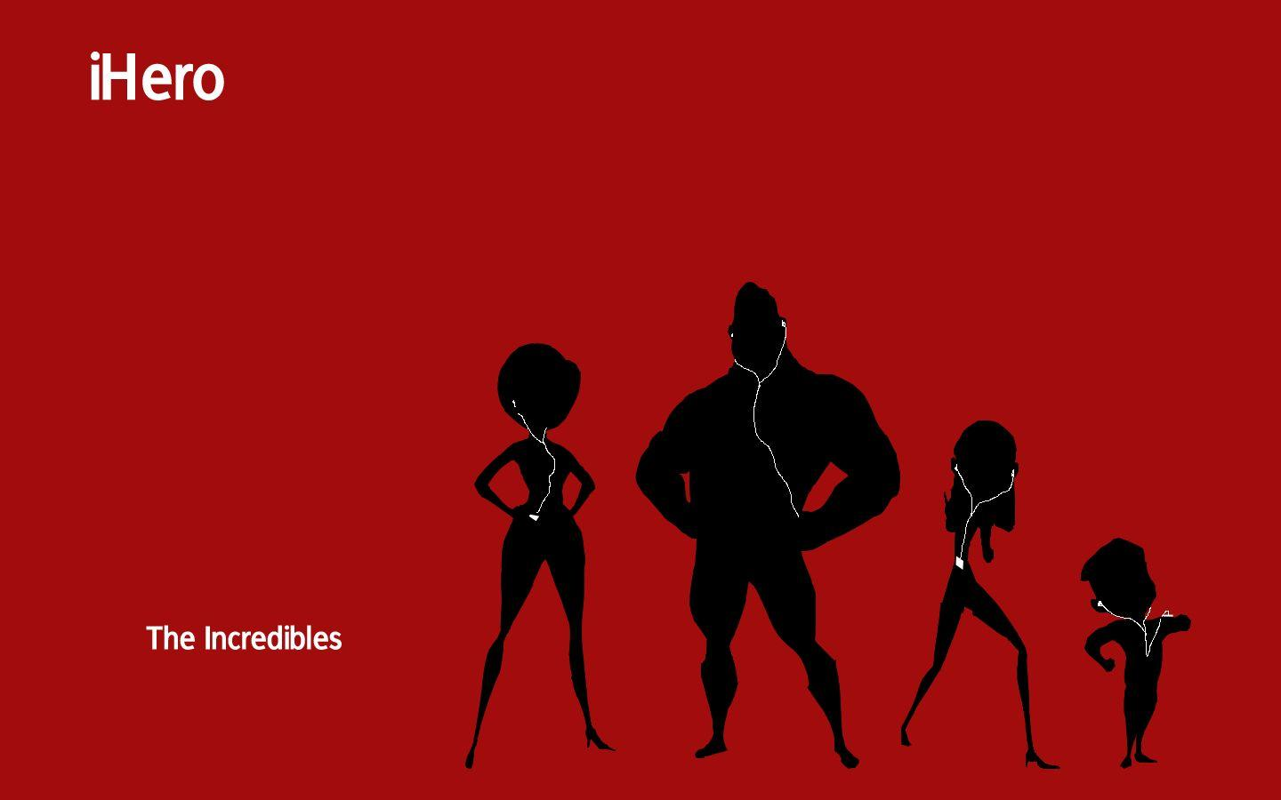 Computer wallpapers for free, the Incredibles iPod style backgrounds