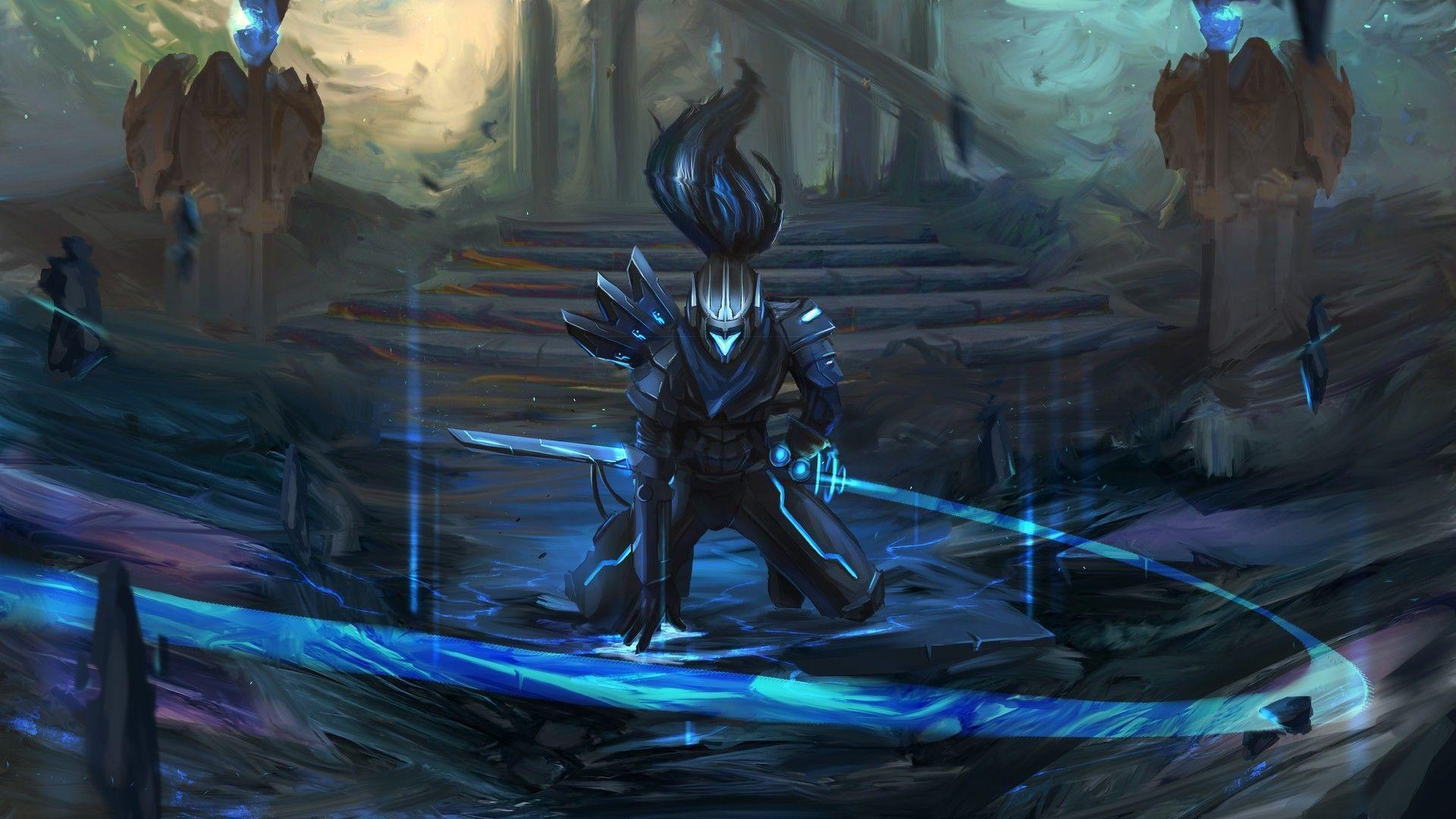 fantasy art league of legends yasuo league of legends