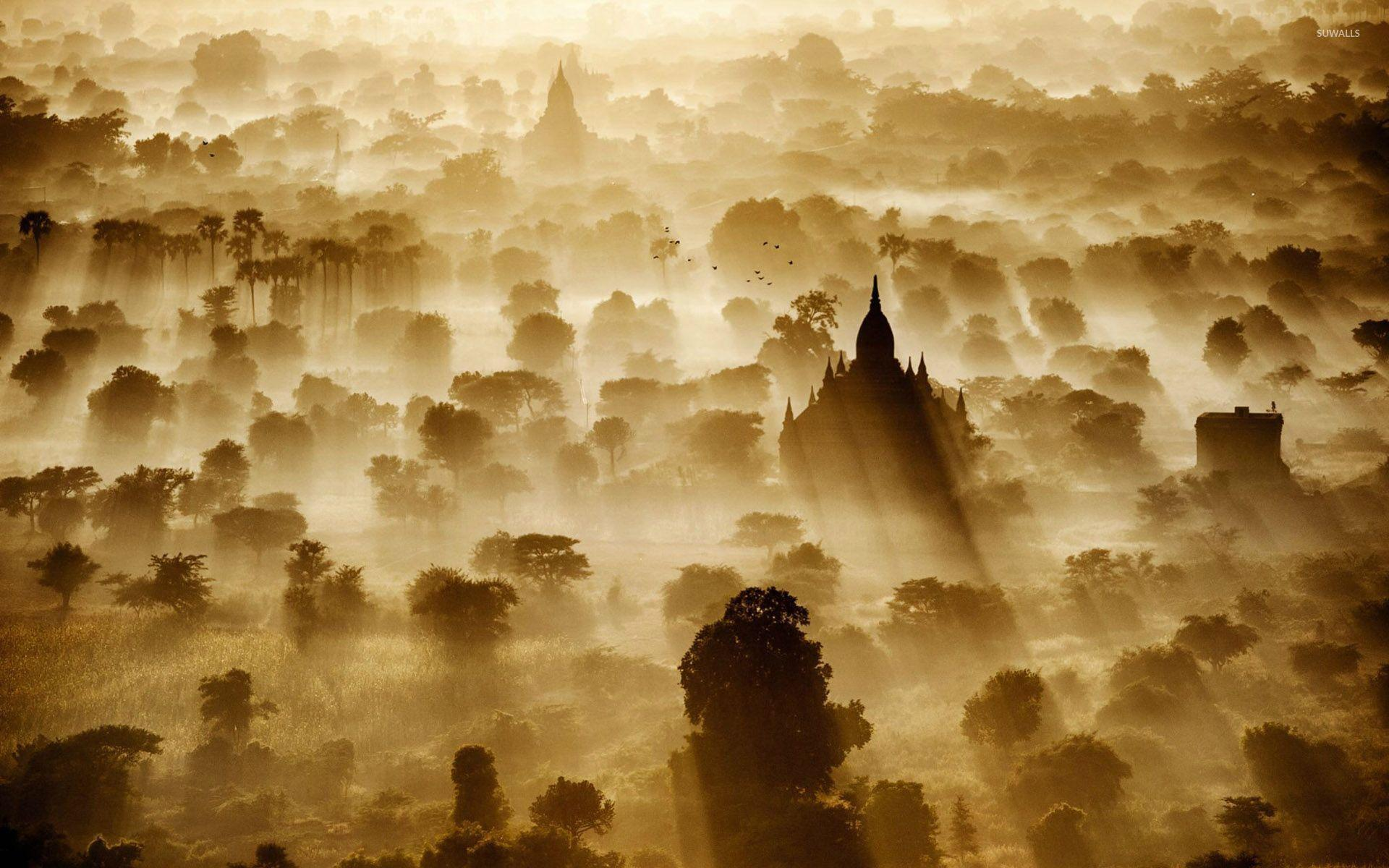 Sunrise in Bagan, Myanmar wallpapers