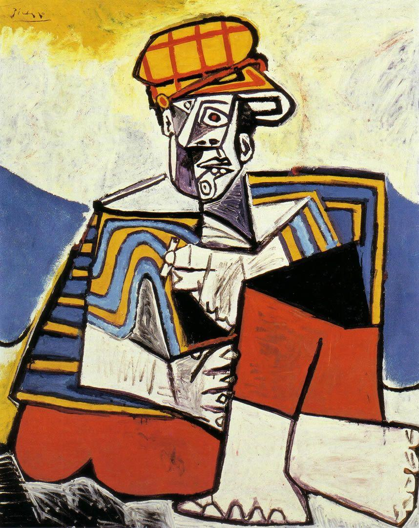The Smoker 1953 - Pablo Picasso Wallpaper Image