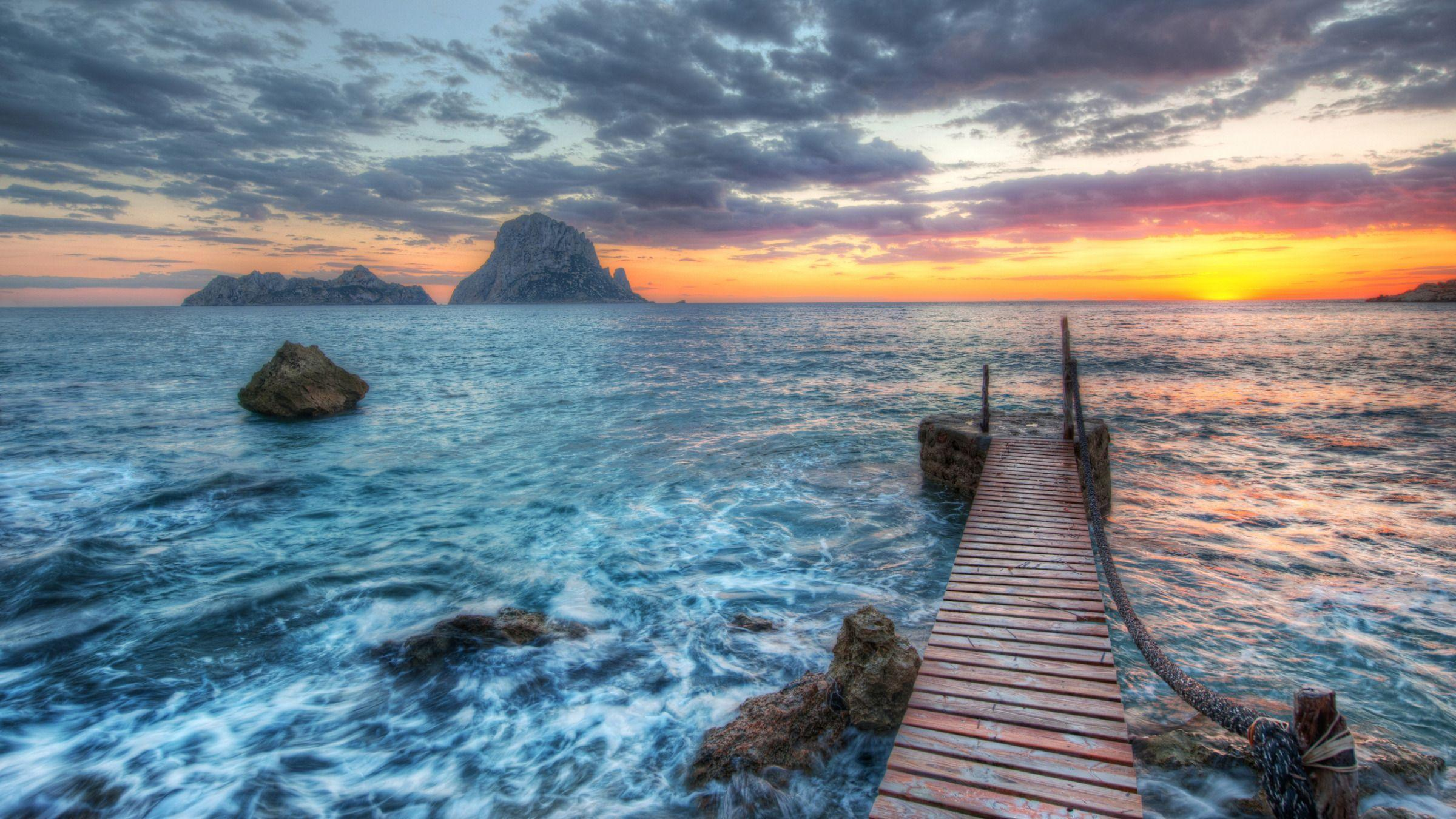 Distant Rocks Off Ibiza widescreen wallpapers