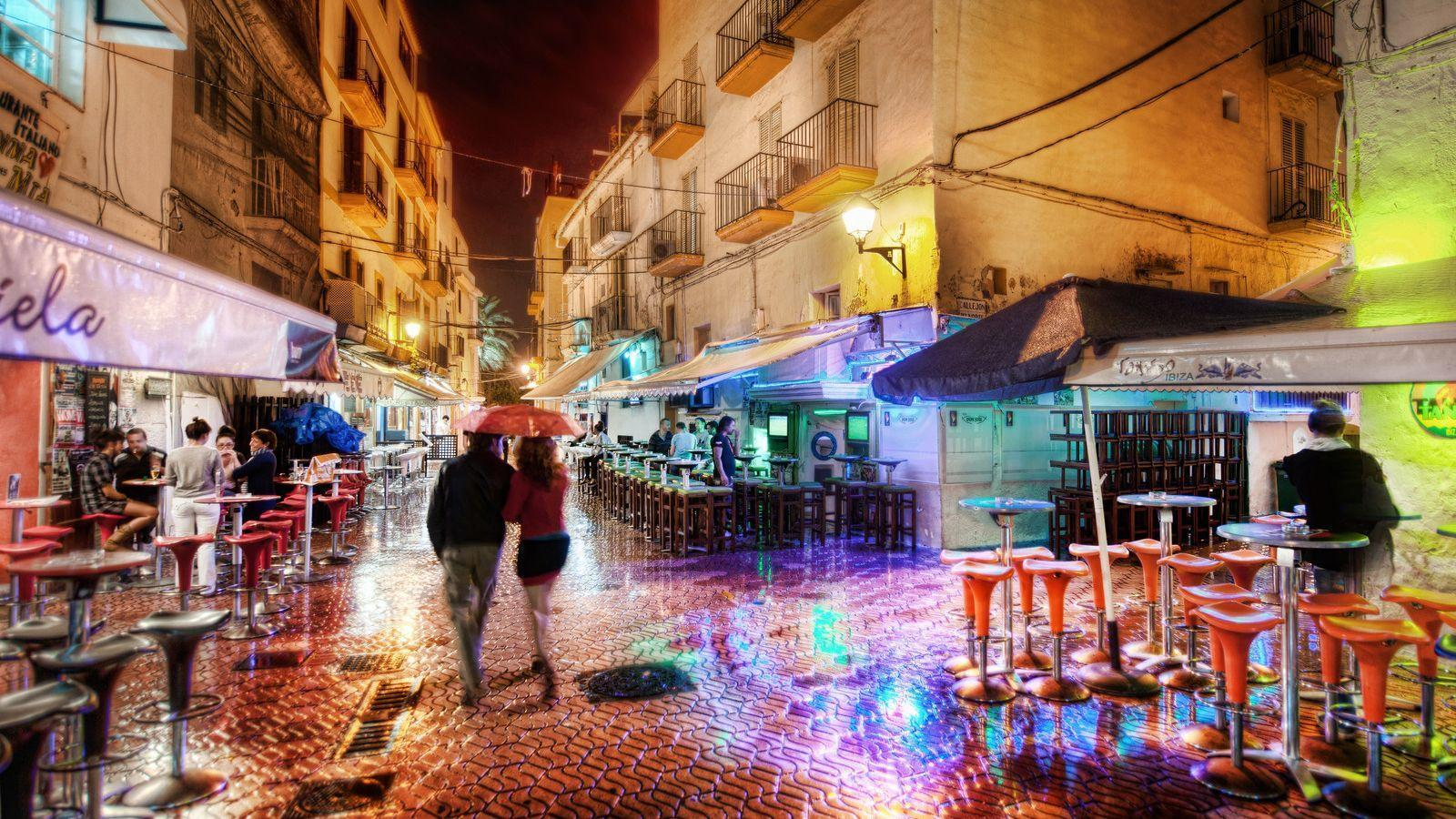 A Rainy and Romantic Night in Ibiza widescreen wallpapers