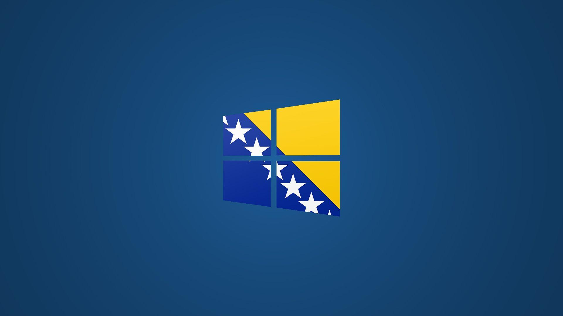 Windows 8 Bosnian Flag Logo Wallpaper (Blue) by Edinev on DeviantArt
