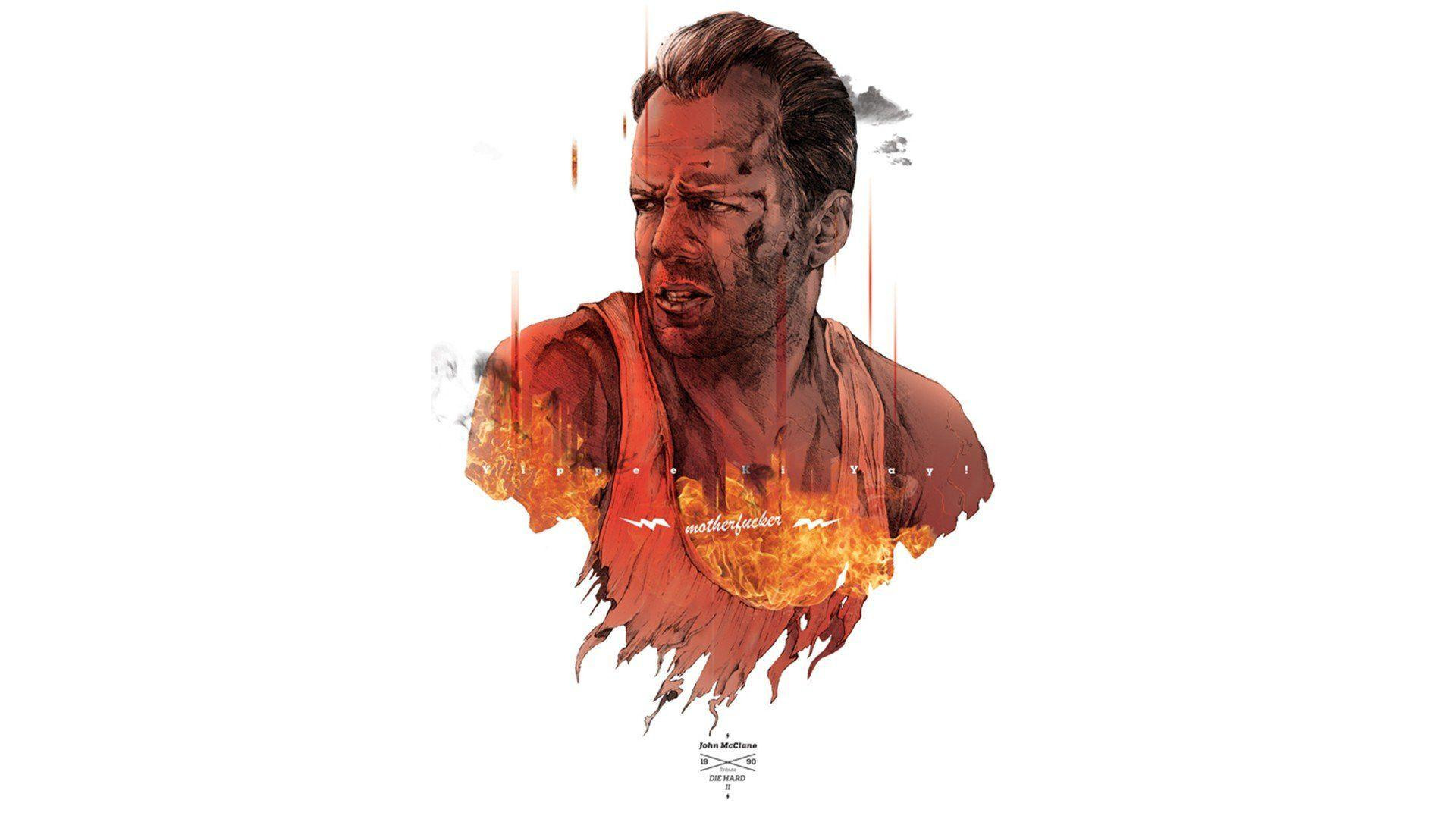Movies Die Hard Bruce Willis fan art john mcclain action movie