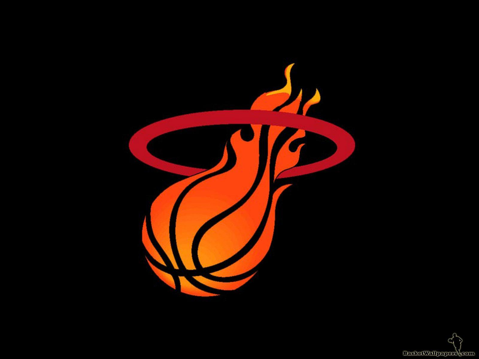 wallpaper | Miami Heat Logo HD Wallpaper For Desktop | games ...