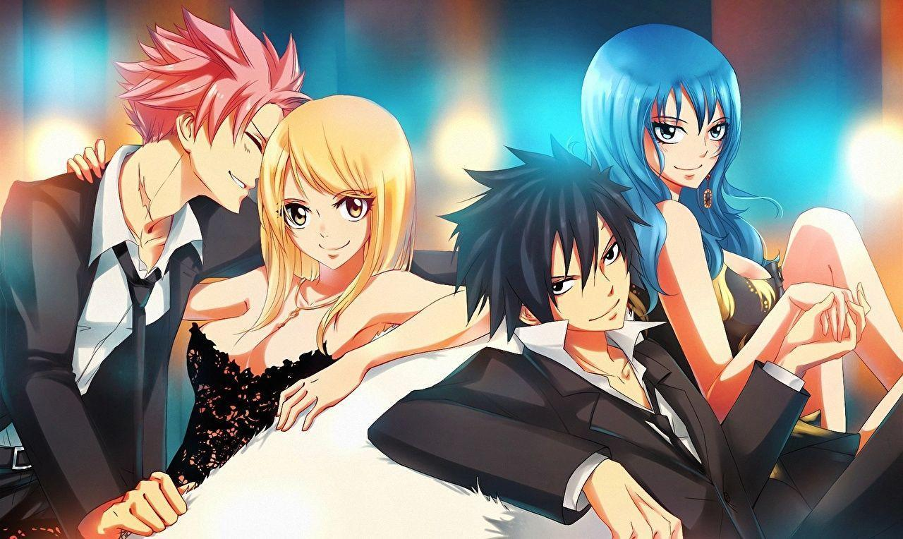 Image Fairy Tail Young man gray fullbuster juvia loxar lucy