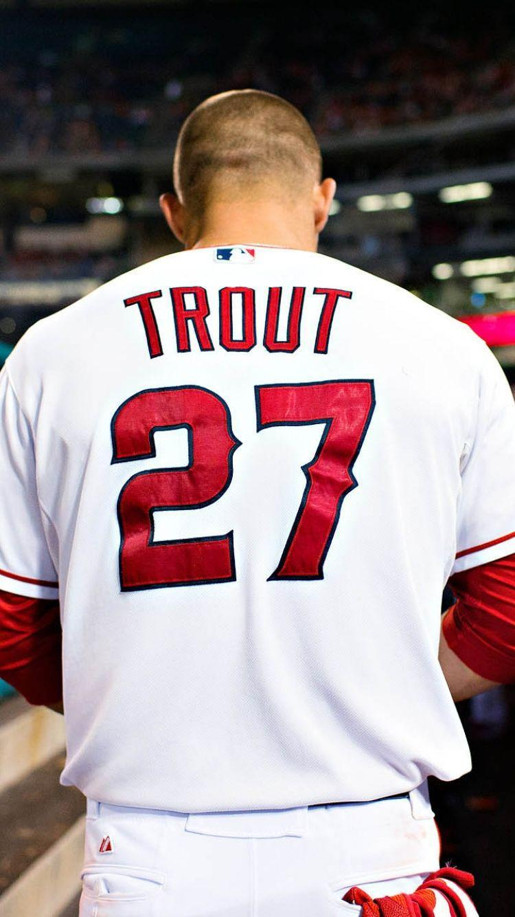 Download Wallpapers 750x1334 Mike trout, Baseball, Los angeles