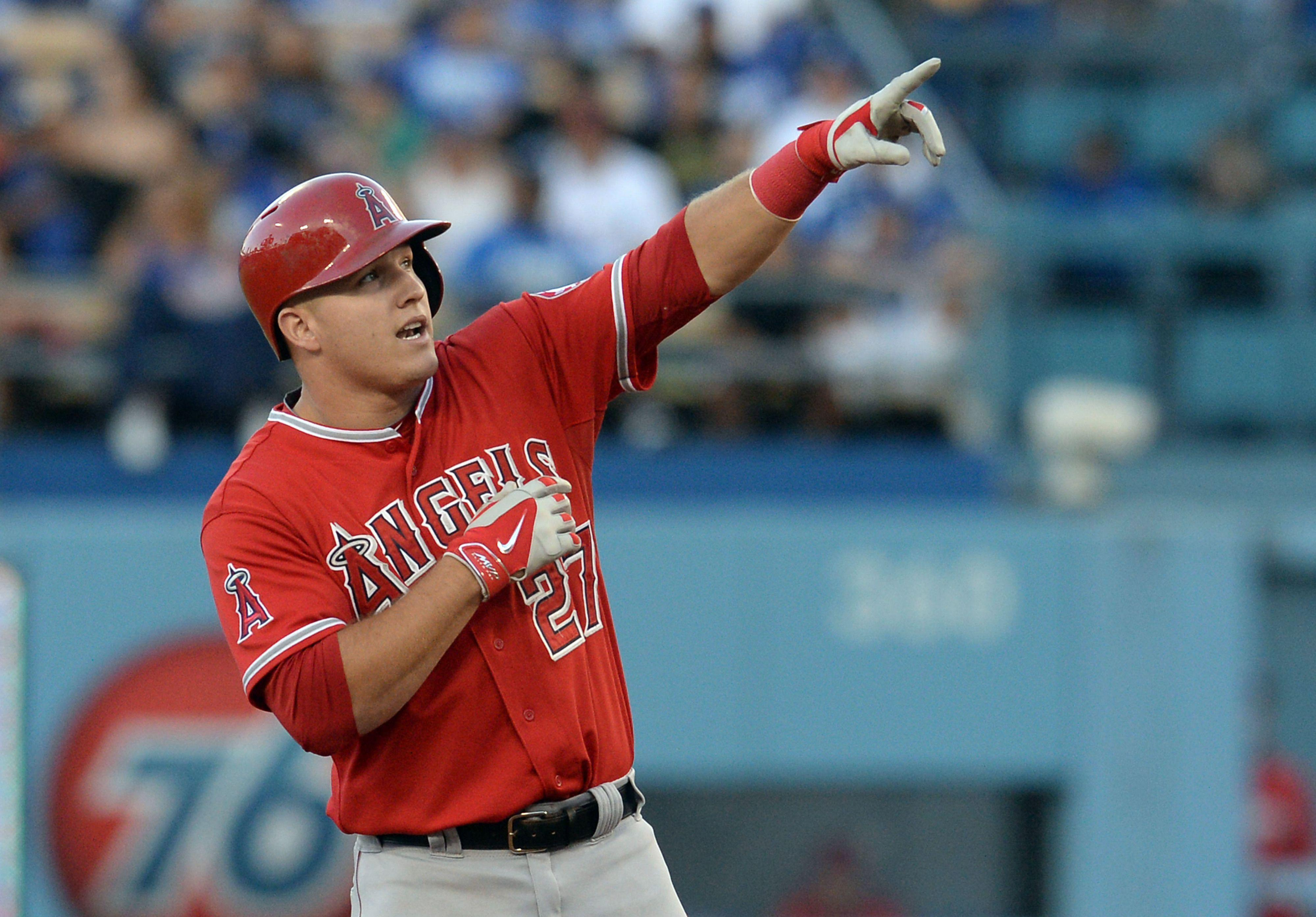 2048x1280px Mike Trout Talented Baseball Player