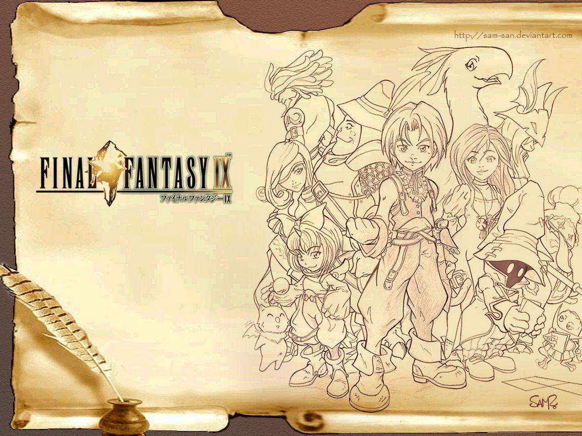 Final Fantasy IX: Arte, Sketches, Wallpapers y Mas!