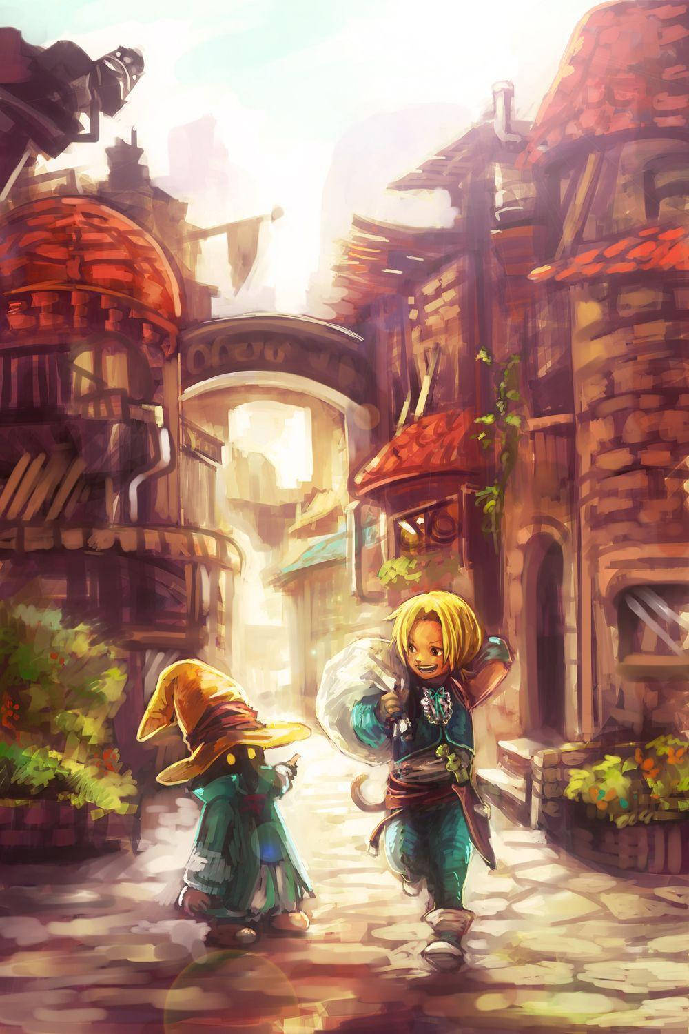 Zidane and Vivi in the best fan art Ive ever seen for Final
