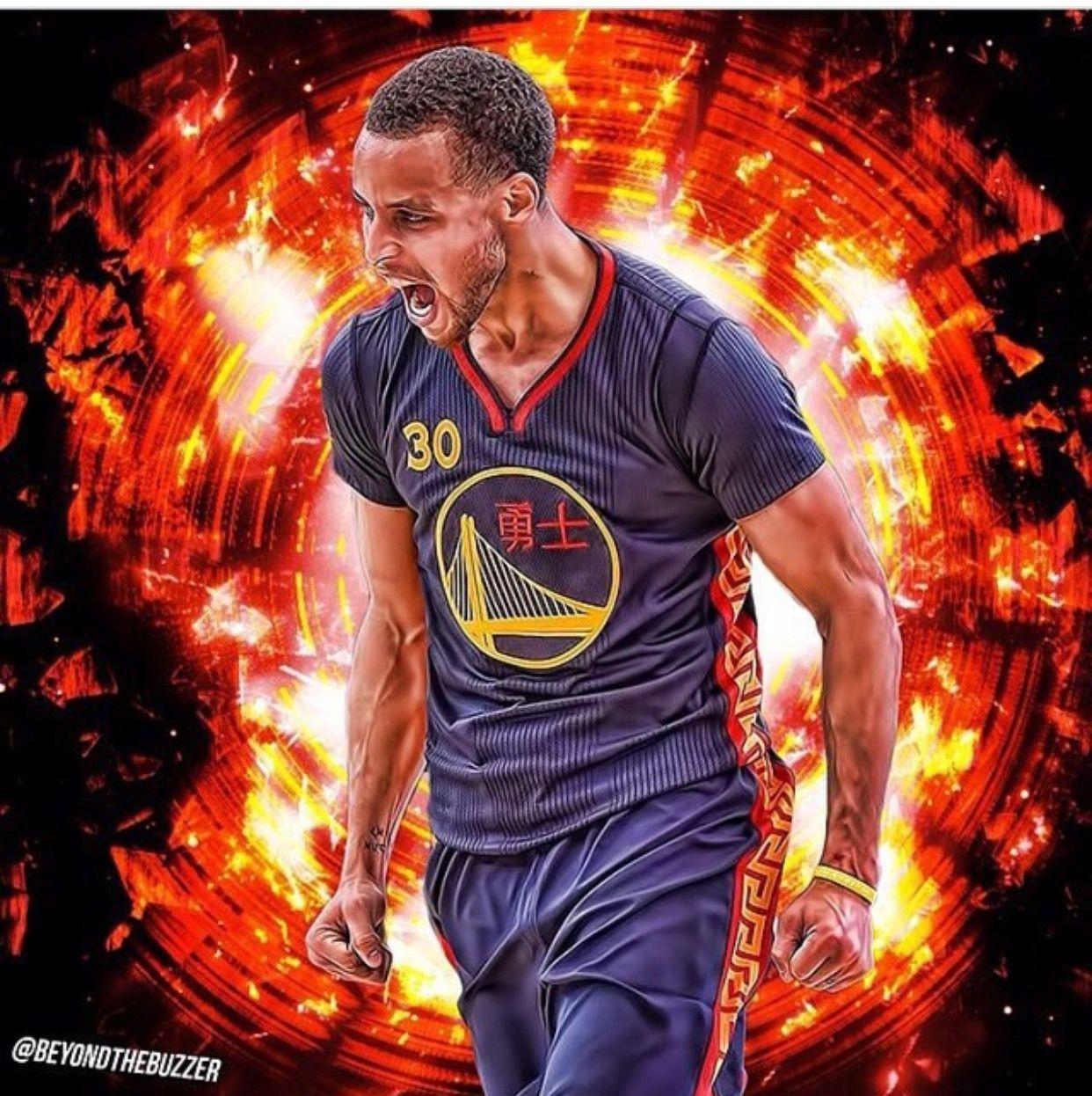 Stephen Curry \'Human Torch\' Wallpaper | Posterizes | NBA ...