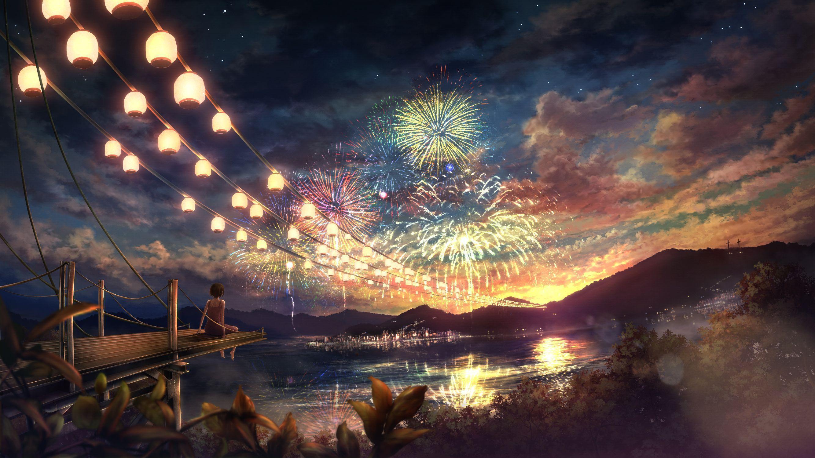 Beautiful Anime Scenery Art Wallpaper Anime Wallpapers