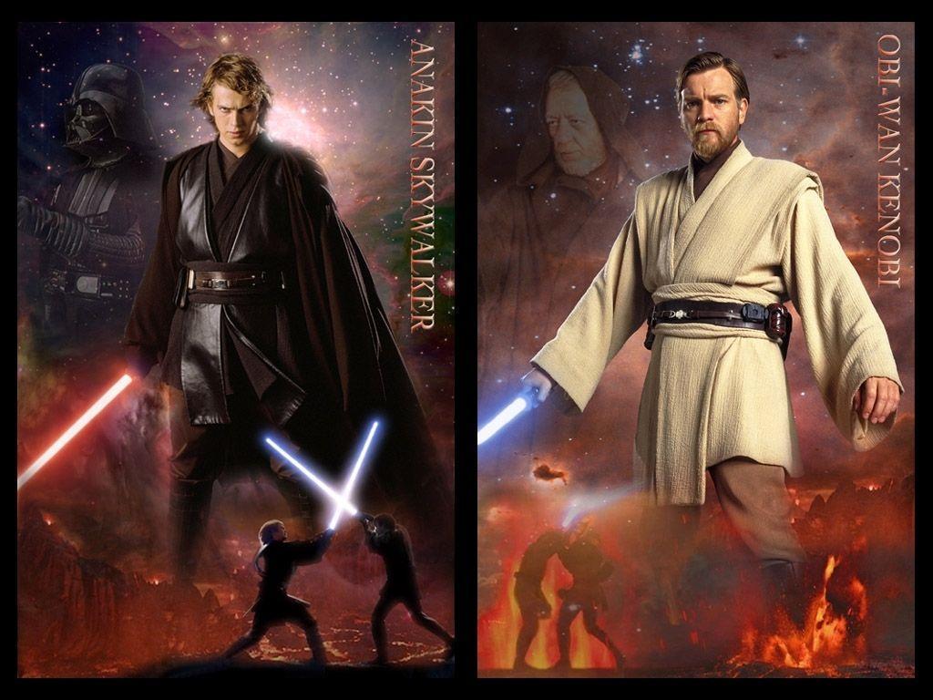 Anakin Vs Obi Wan Wallpaper