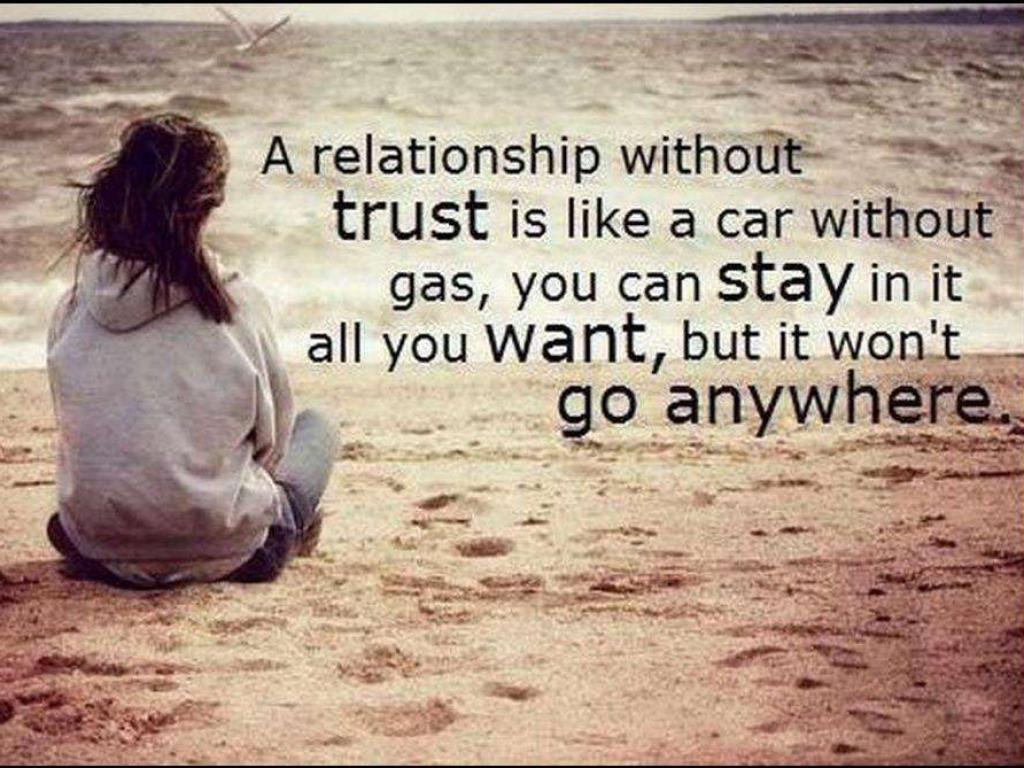 Motivational Wallpapers on Trust: A relationship without trust is
