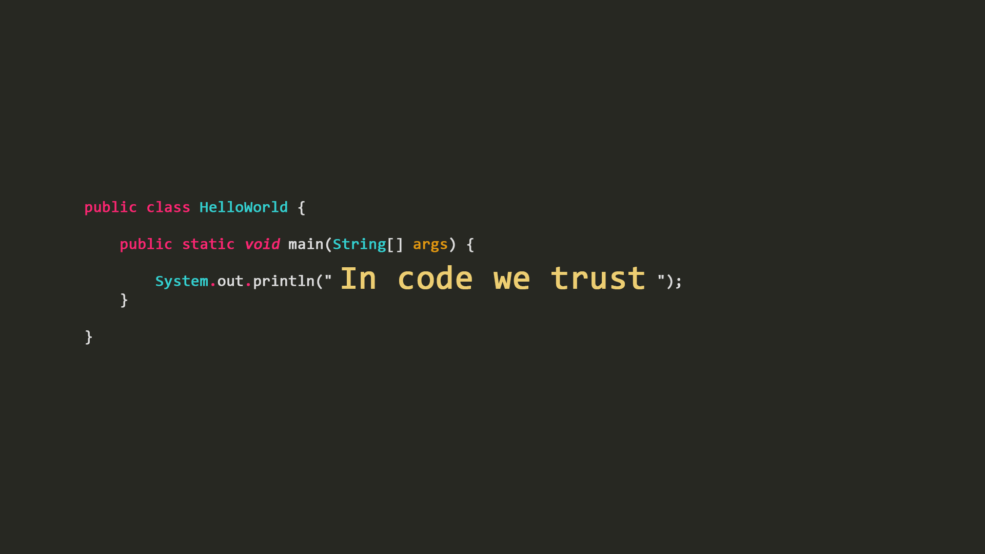 In code we trust [1920x1080] : wallpapers