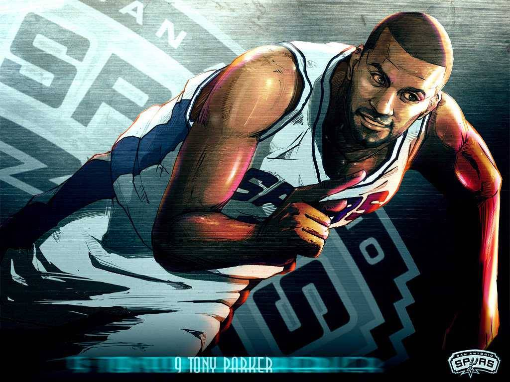 Amazing illustrated Tony Parker Wallpaper - San Antonio Spurs ...