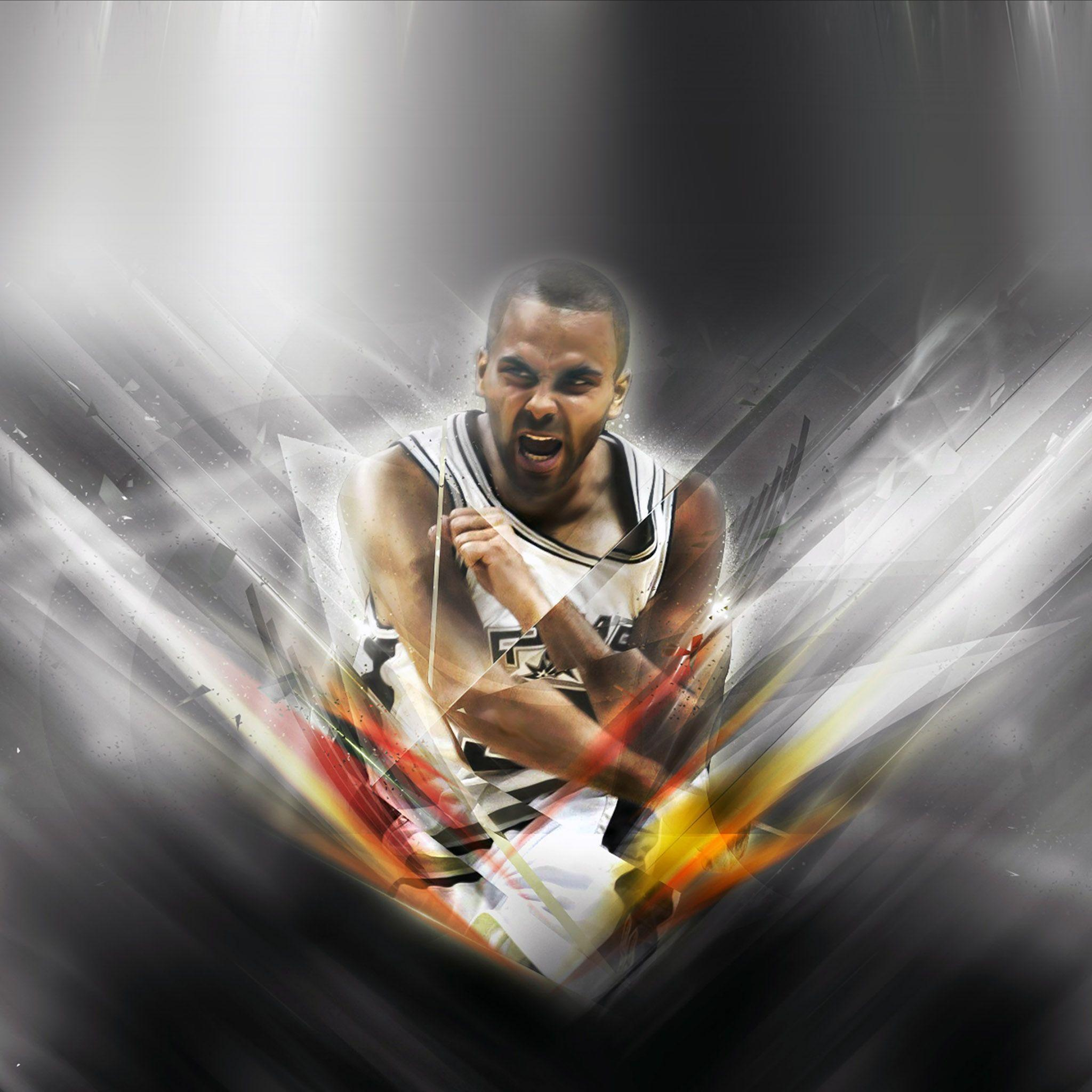 FREEIOS7 | tony-parker-sa - parallax HD iPhone iPad wallpaper
