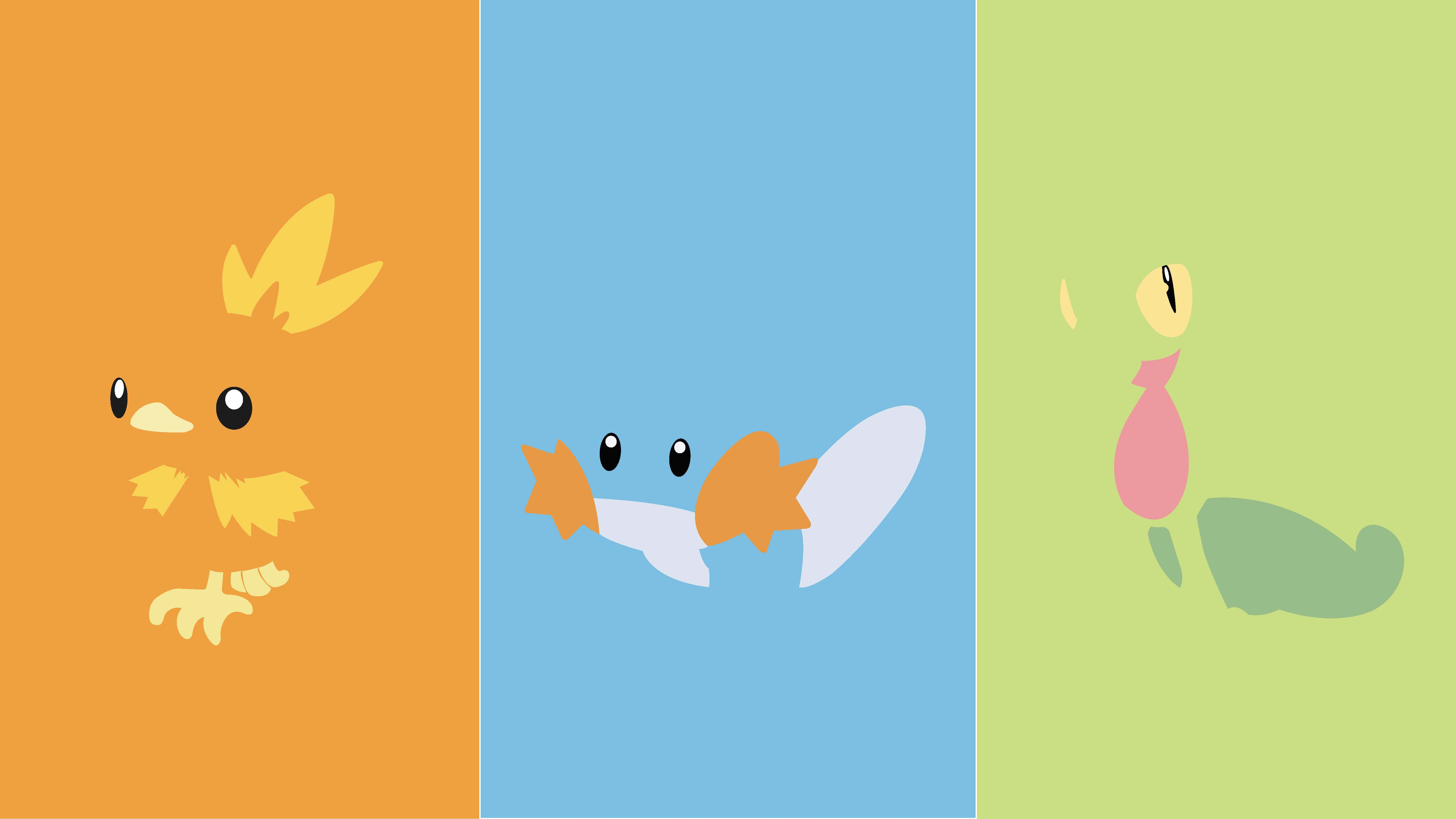 pokemon starters wallpapers wallpaper cave