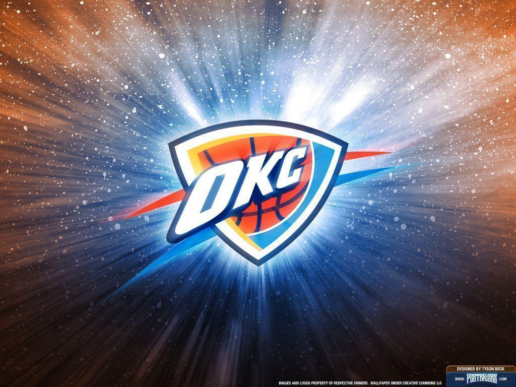 okc thunder wallpaper | Oklahoma City Thunder Logo Wallpaper ...