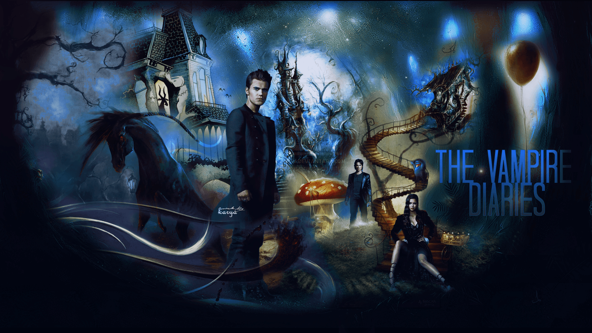 The Vampire Diaries Wallpapers by justRomanova.deviantart